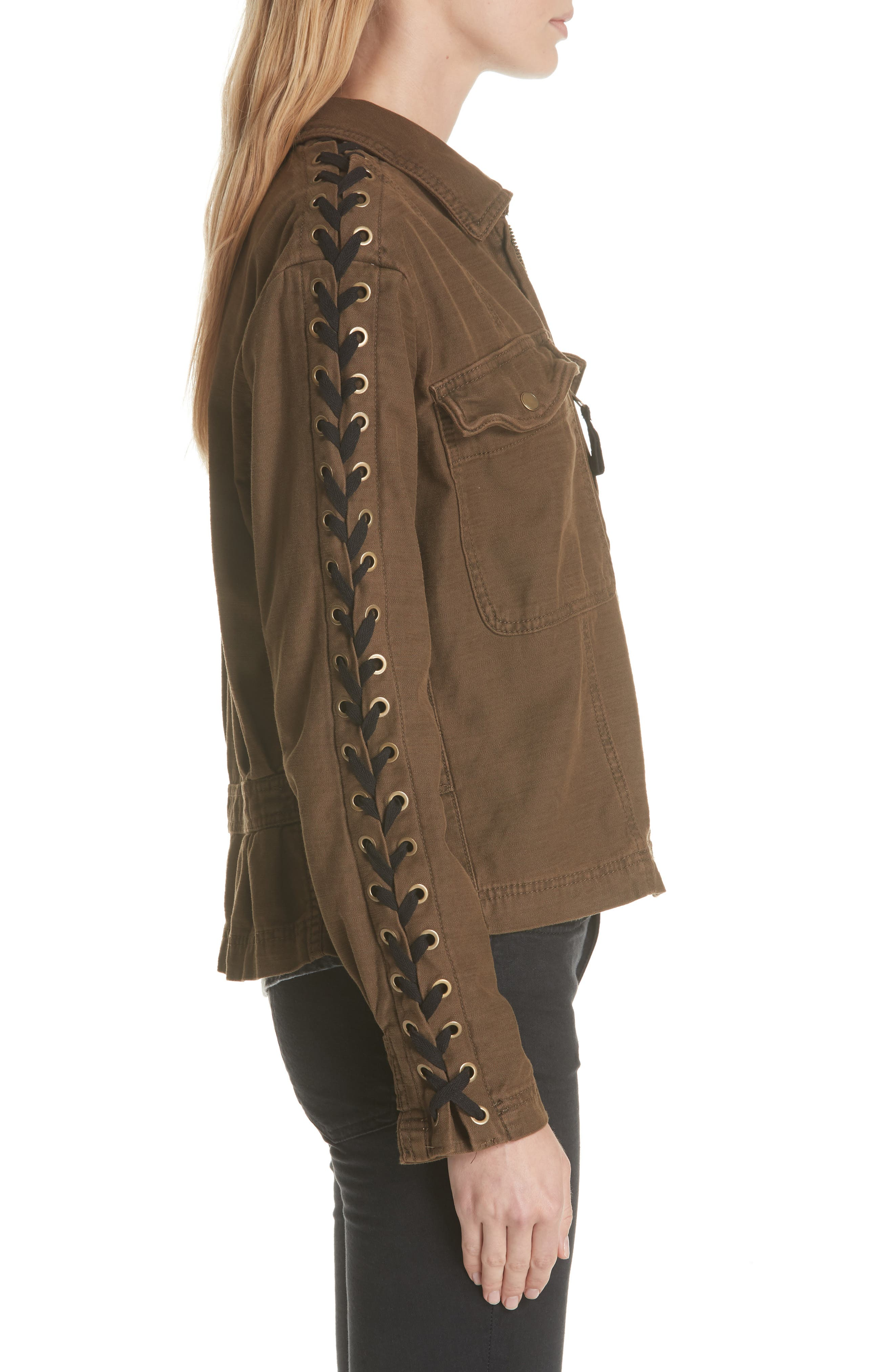 Faye Military Jacket,                             Alternate thumbnail 6, color,