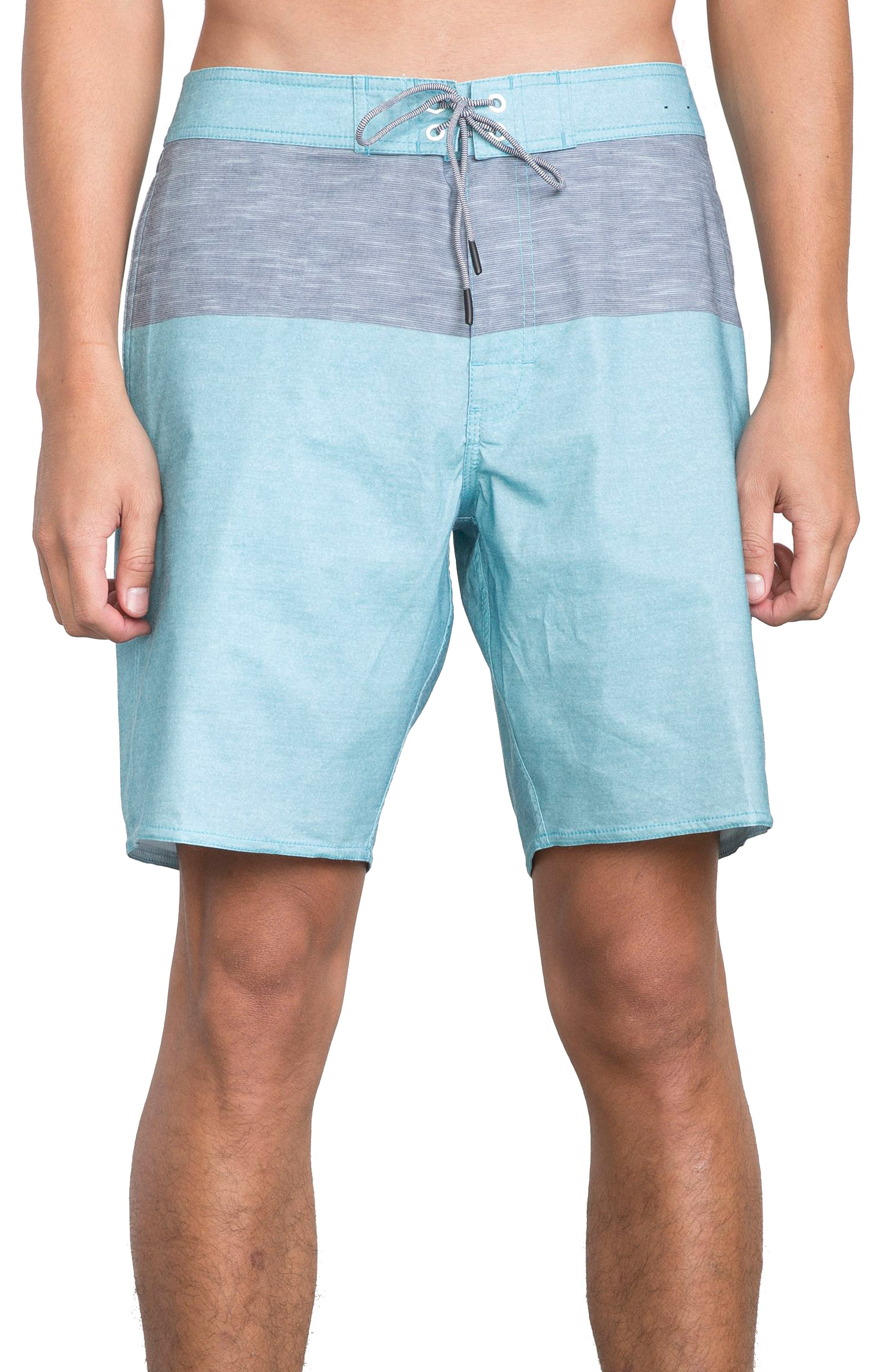 Gothard Board Shorts,                         Main,                         color, MAUI BLUE