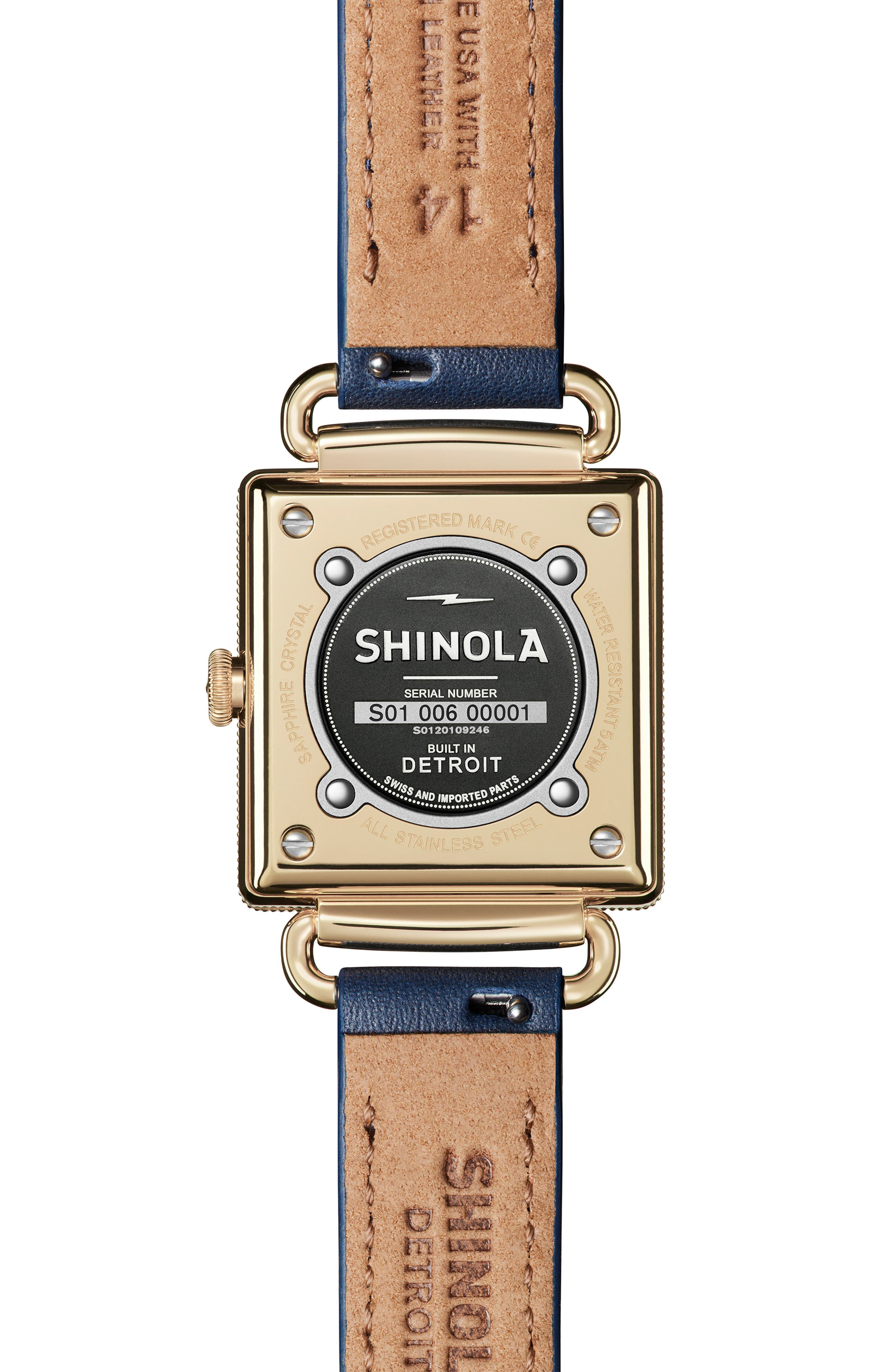 Cass Leather Strap Watch, 28mm,                             Alternate thumbnail 2, color,                             OCEAN/ BLUE/ GOLD