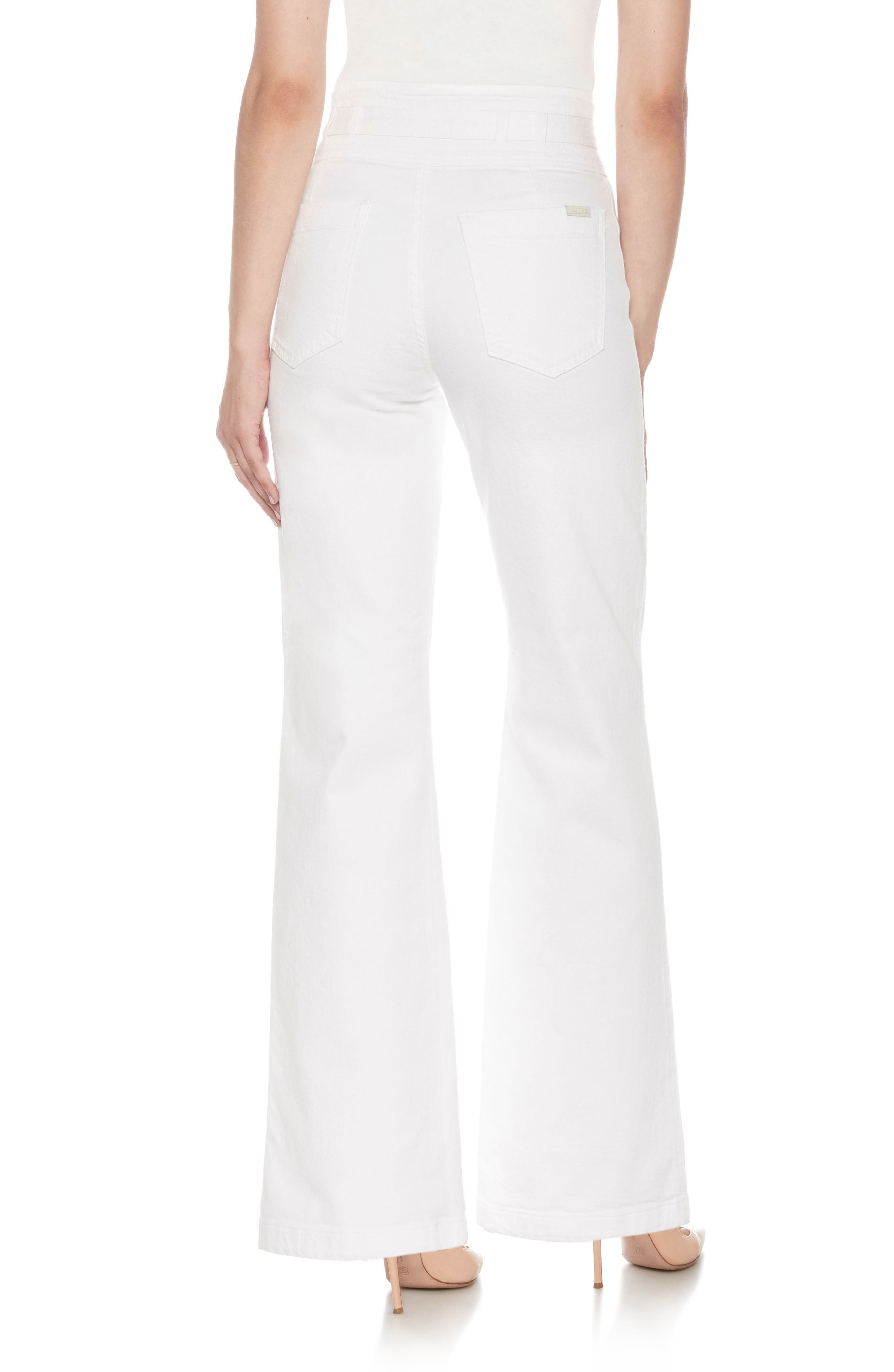 High Waist Flare Jeans,                             Alternate thumbnail 2, color,                             100