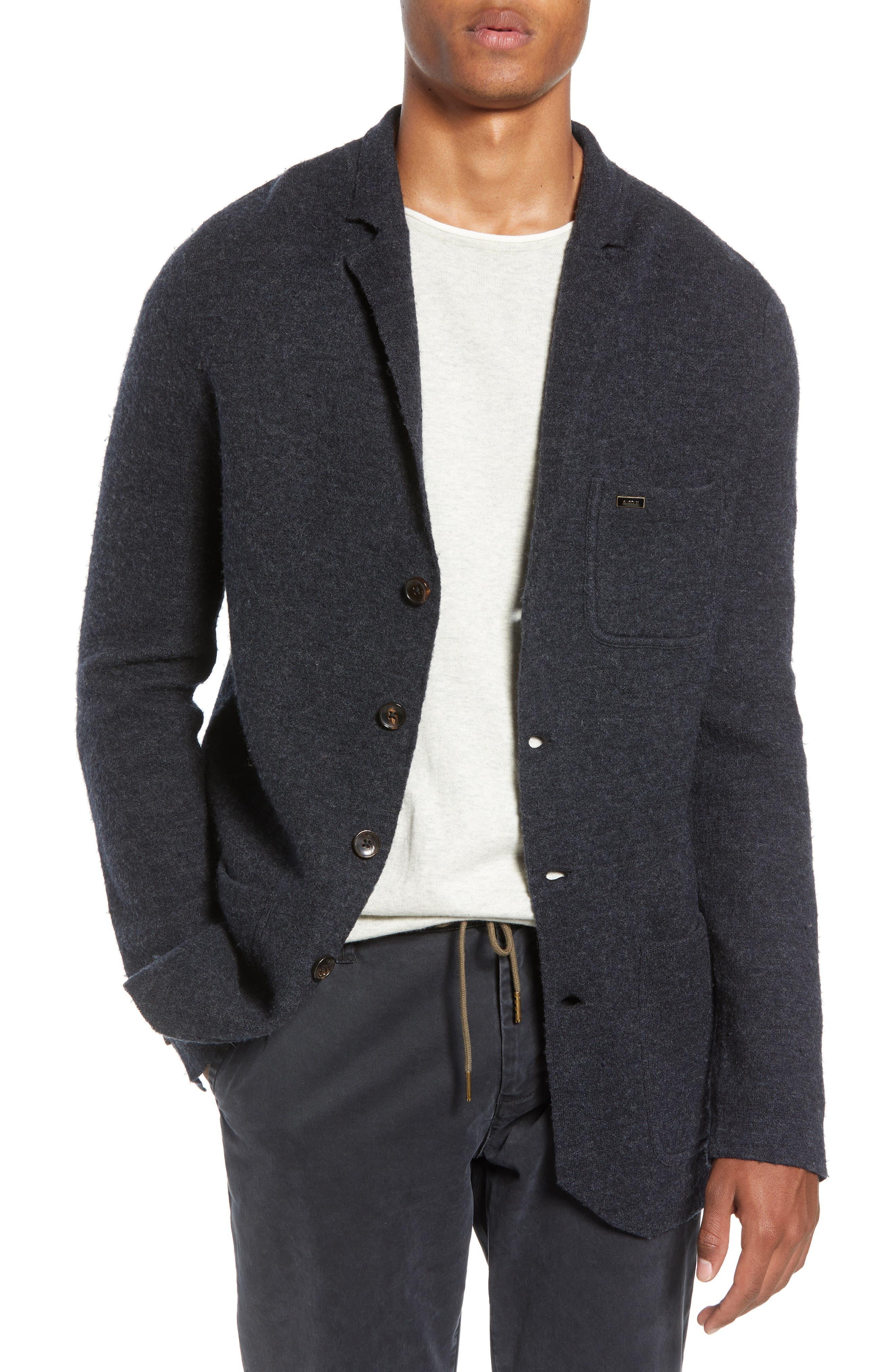 Boiled Wool Blazer,                             Main thumbnail 1, color,                             CHARCOAL MELANGE