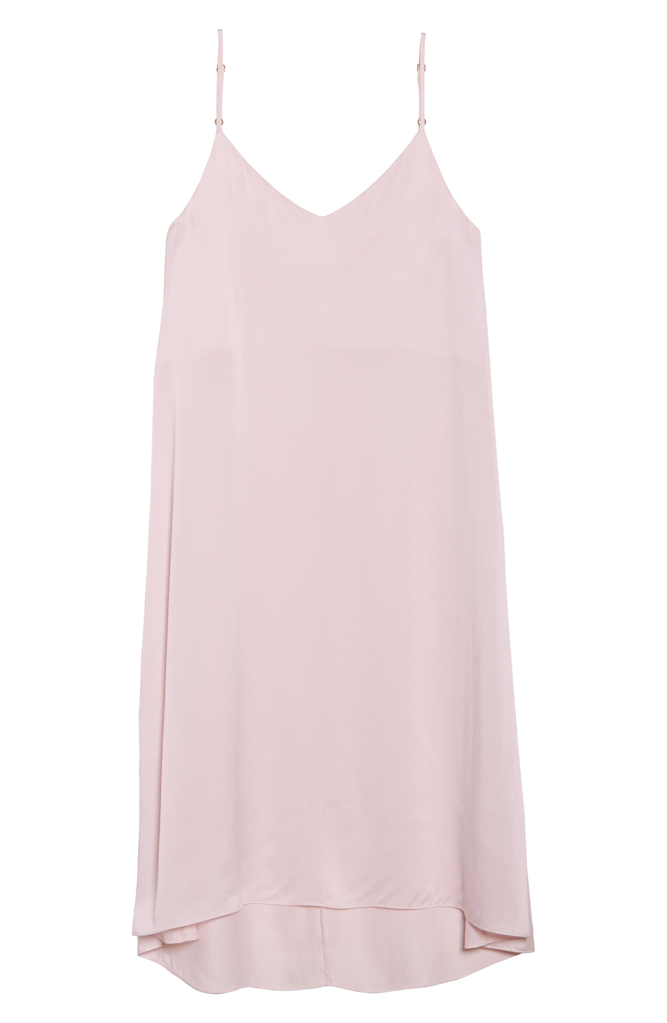Silk Nightgown,                             Alternate thumbnail 6, color,                             ICE PINK