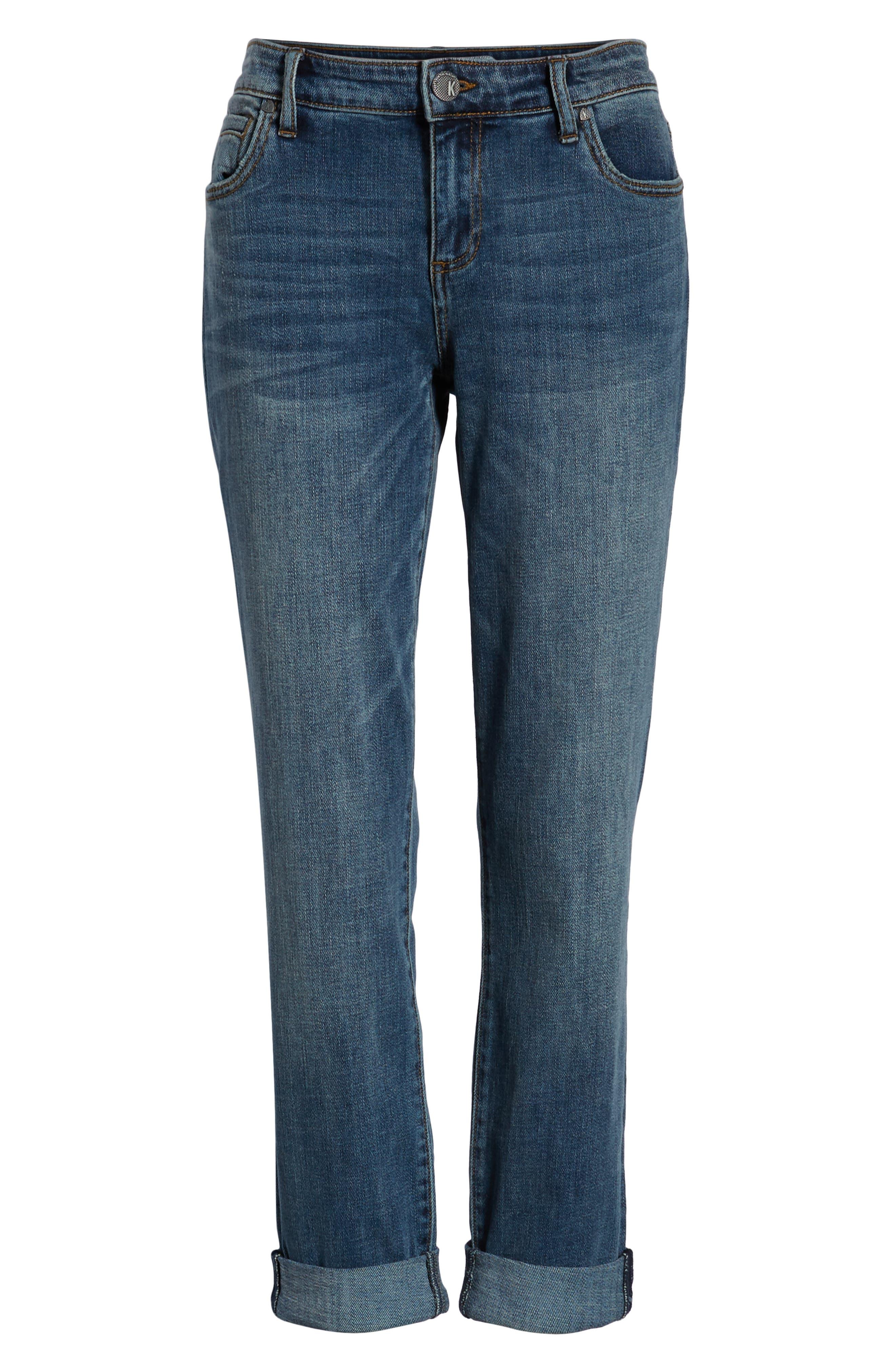 KUT FROM THE KLOTH,                             Catherine Slim Boyfriend Jeans,                             Alternate thumbnail 7, color,                             VERSION W/ MEDIUM BASE WASH