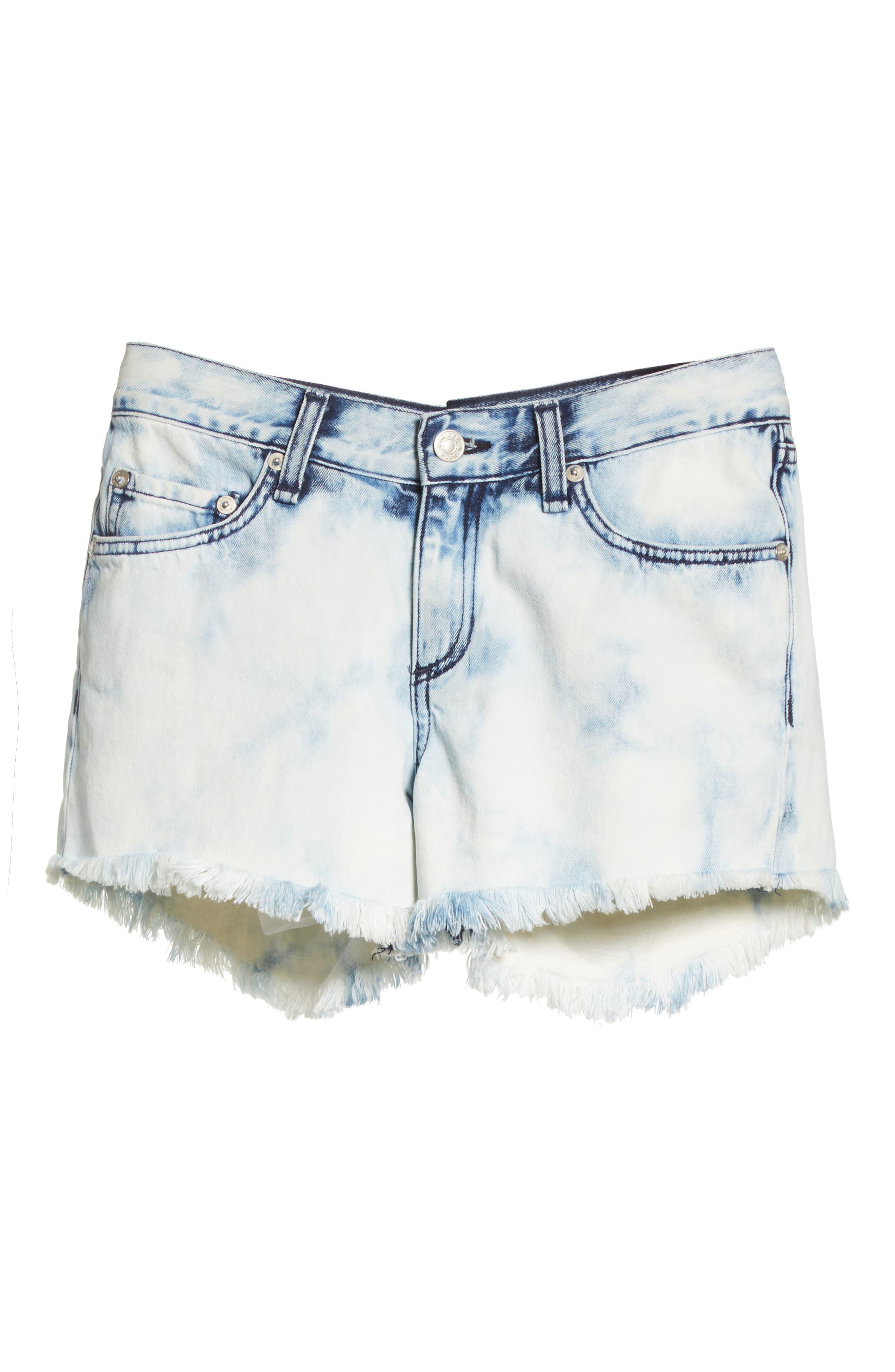 Cutoff Denim Shorts,                             Alternate thumbnail 6, color,                             490