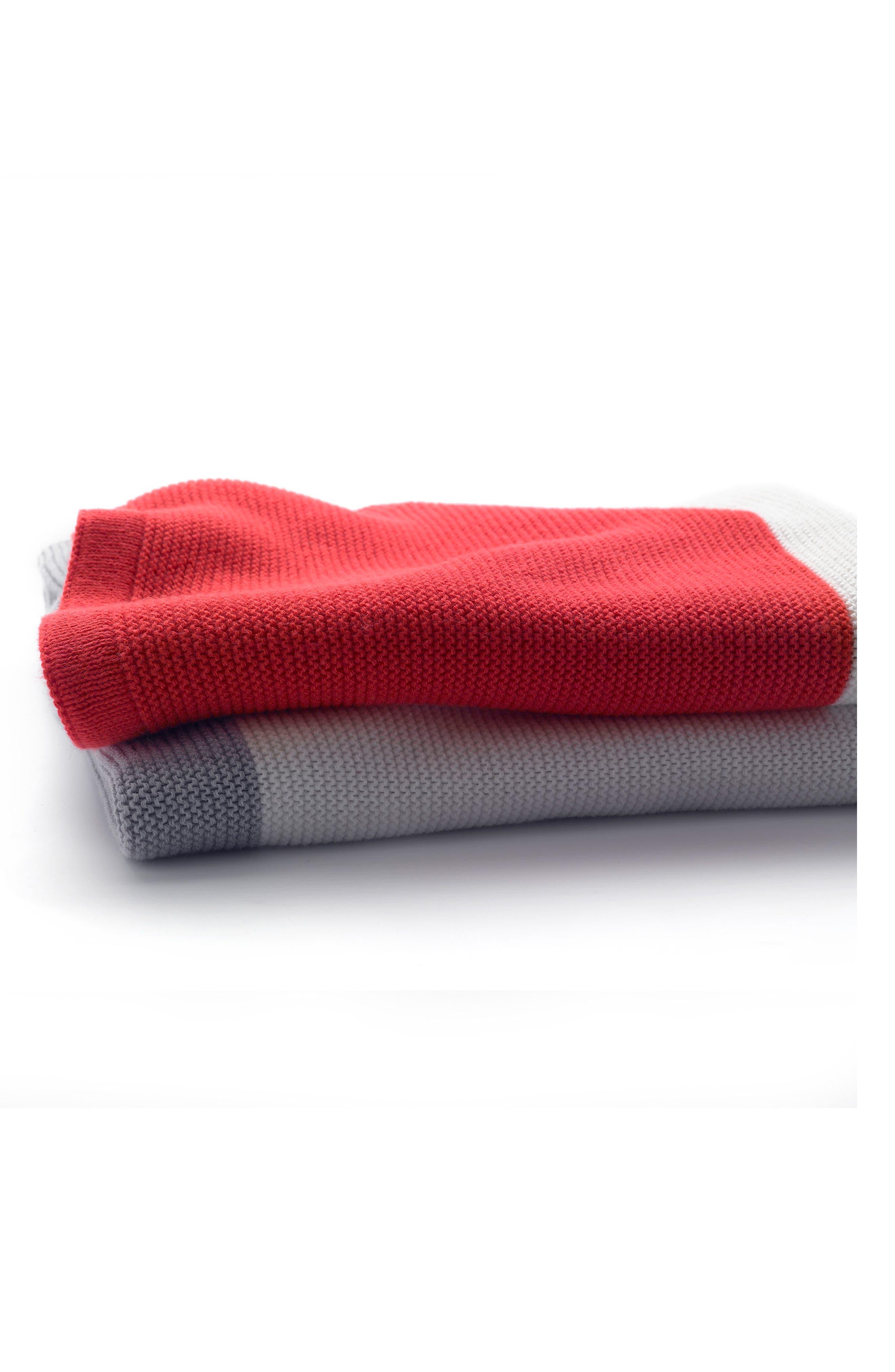 Light Cotton Blanket,                             Alternate thumbnail 2, color,                             NEON RED