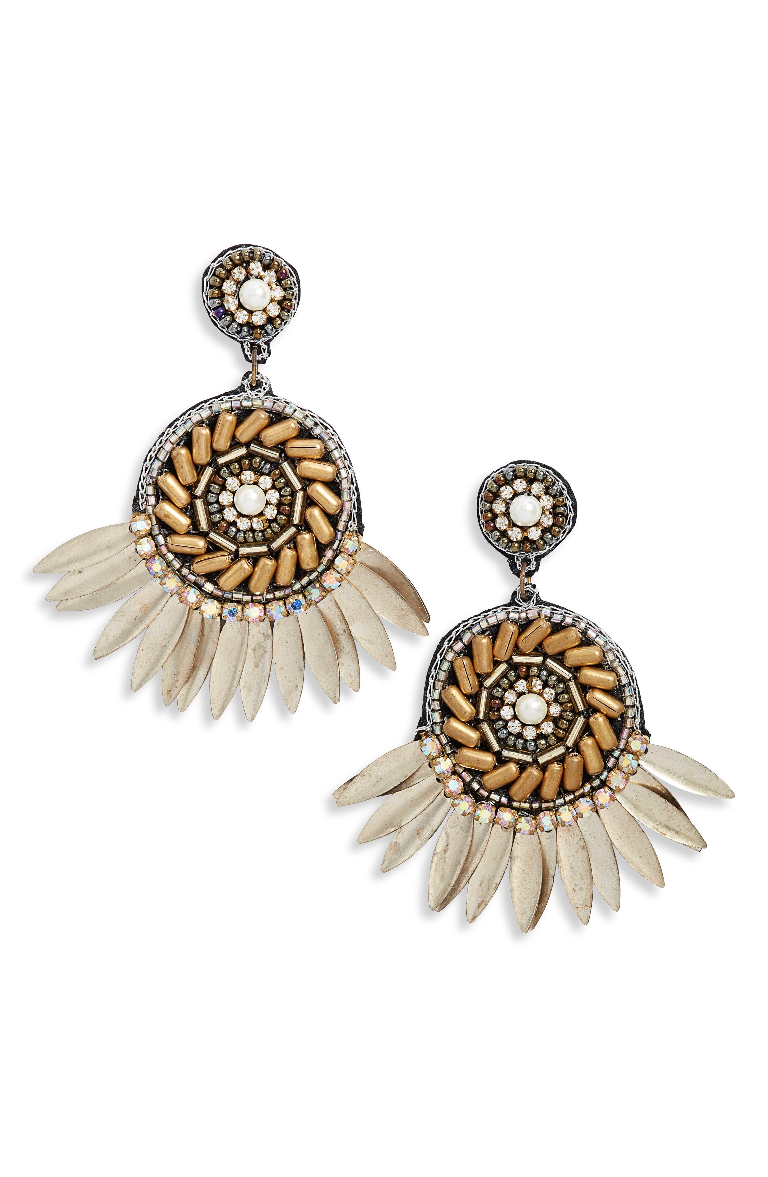 Aurelia Earrings, Main, color, GOLD
