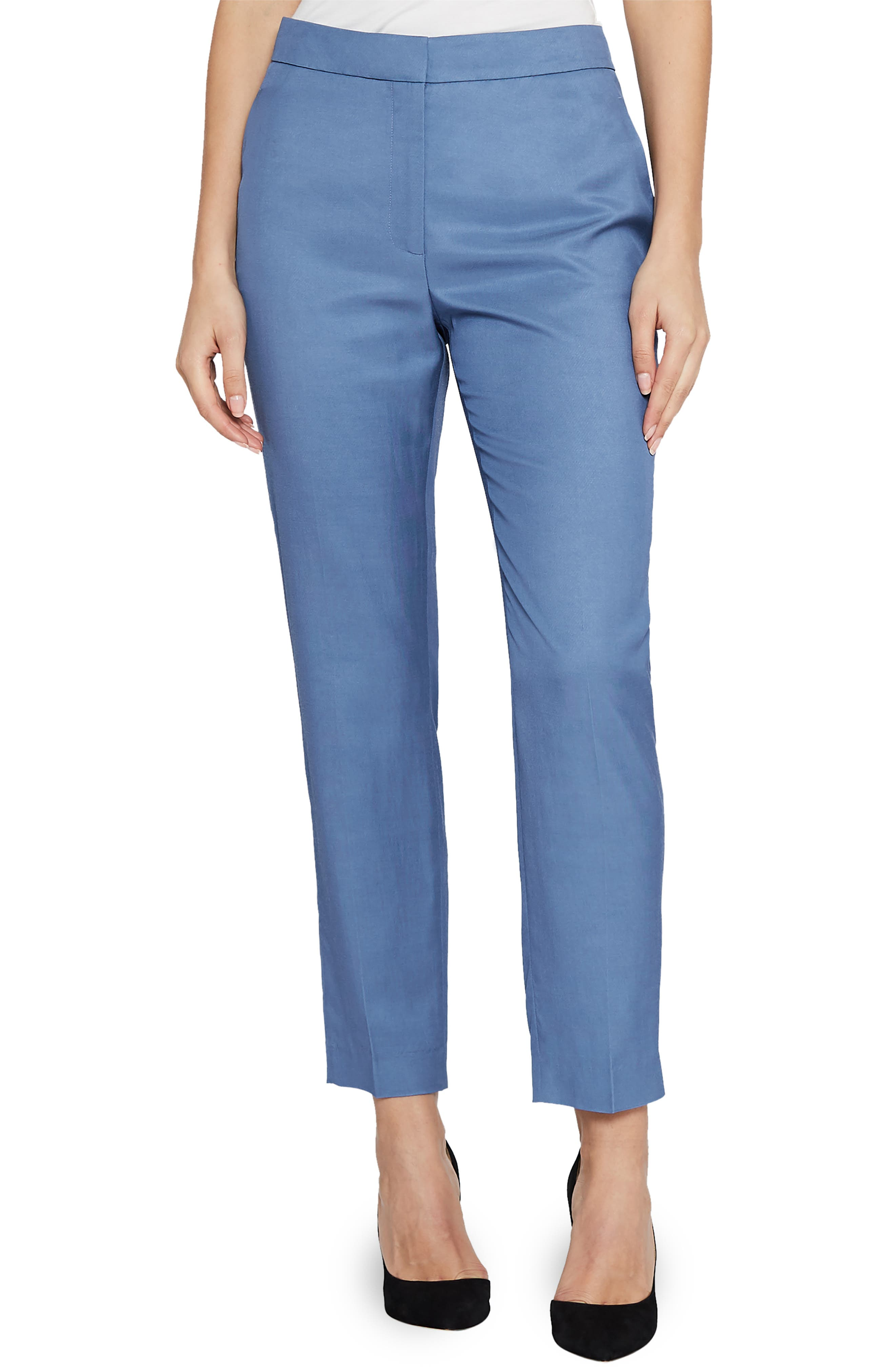 Etta Wool Blend Trousers,                             Main thumbnail 1, color,                             410