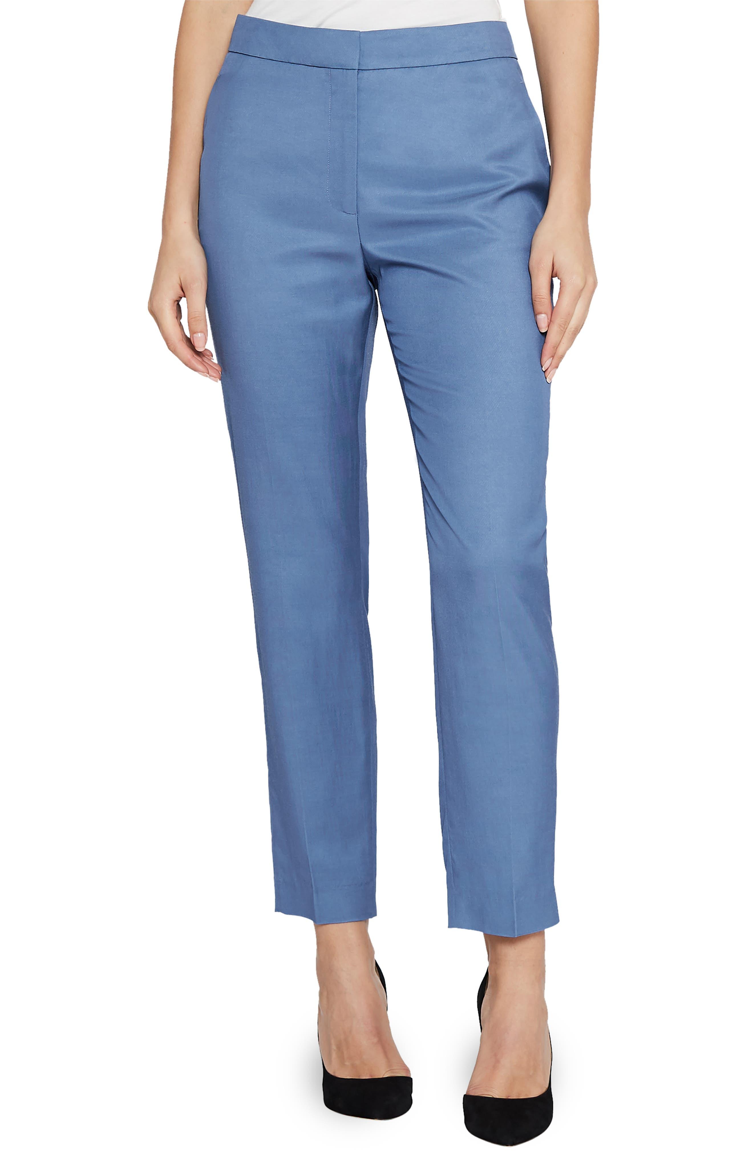 Etta Wool Blend Trousers,                         Main,                         color, 410