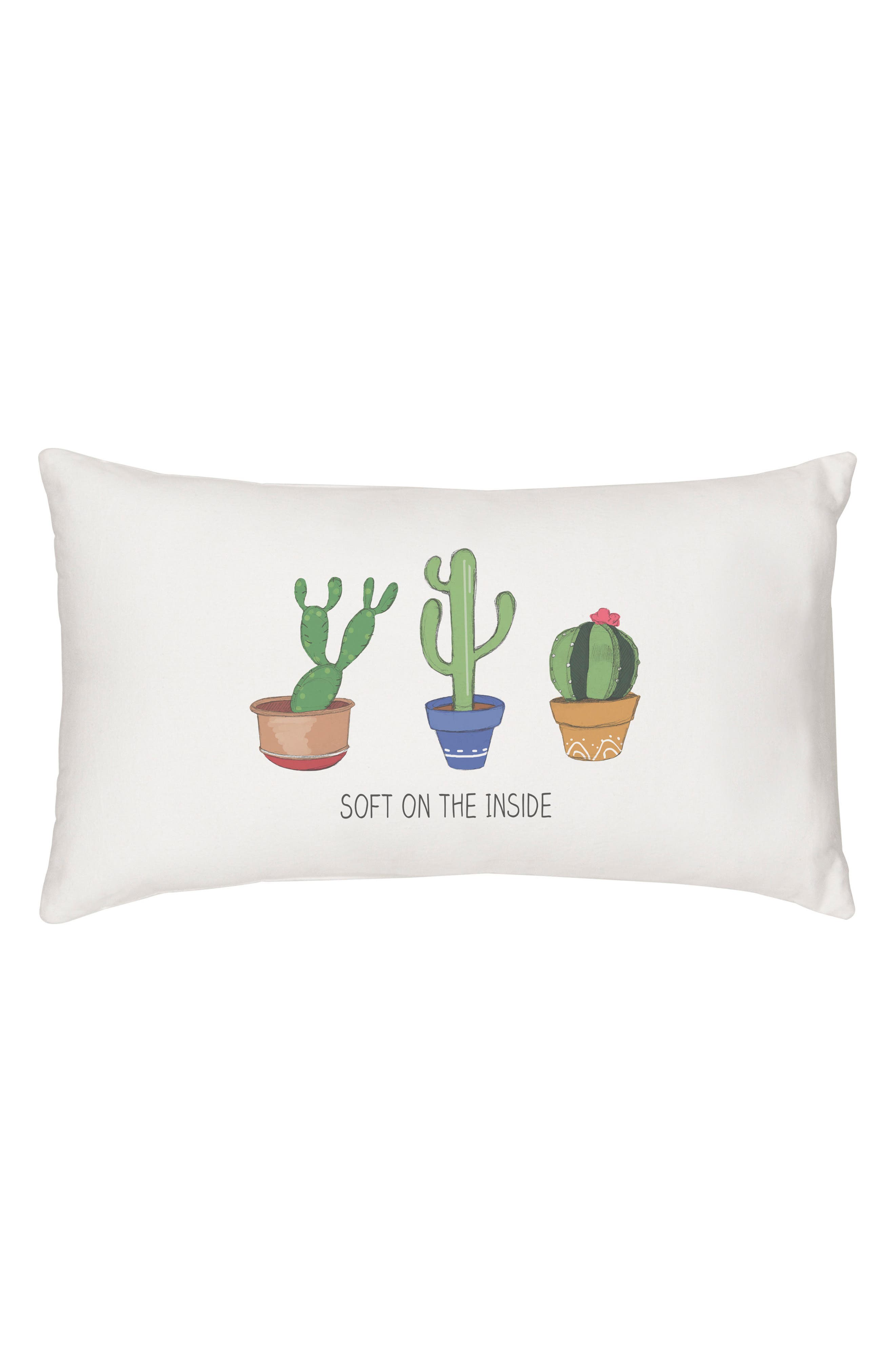 Cactus Accent Pillow,                         Main,                         color, 100