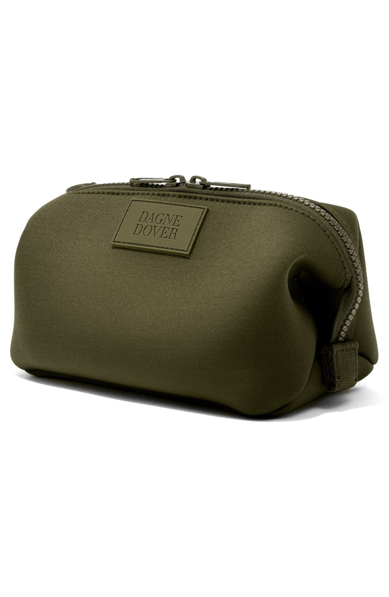 Small Hunter Neoprene Toiletry Bag,                             Alternate thumbnail 4, color,                             DARK MOSS
