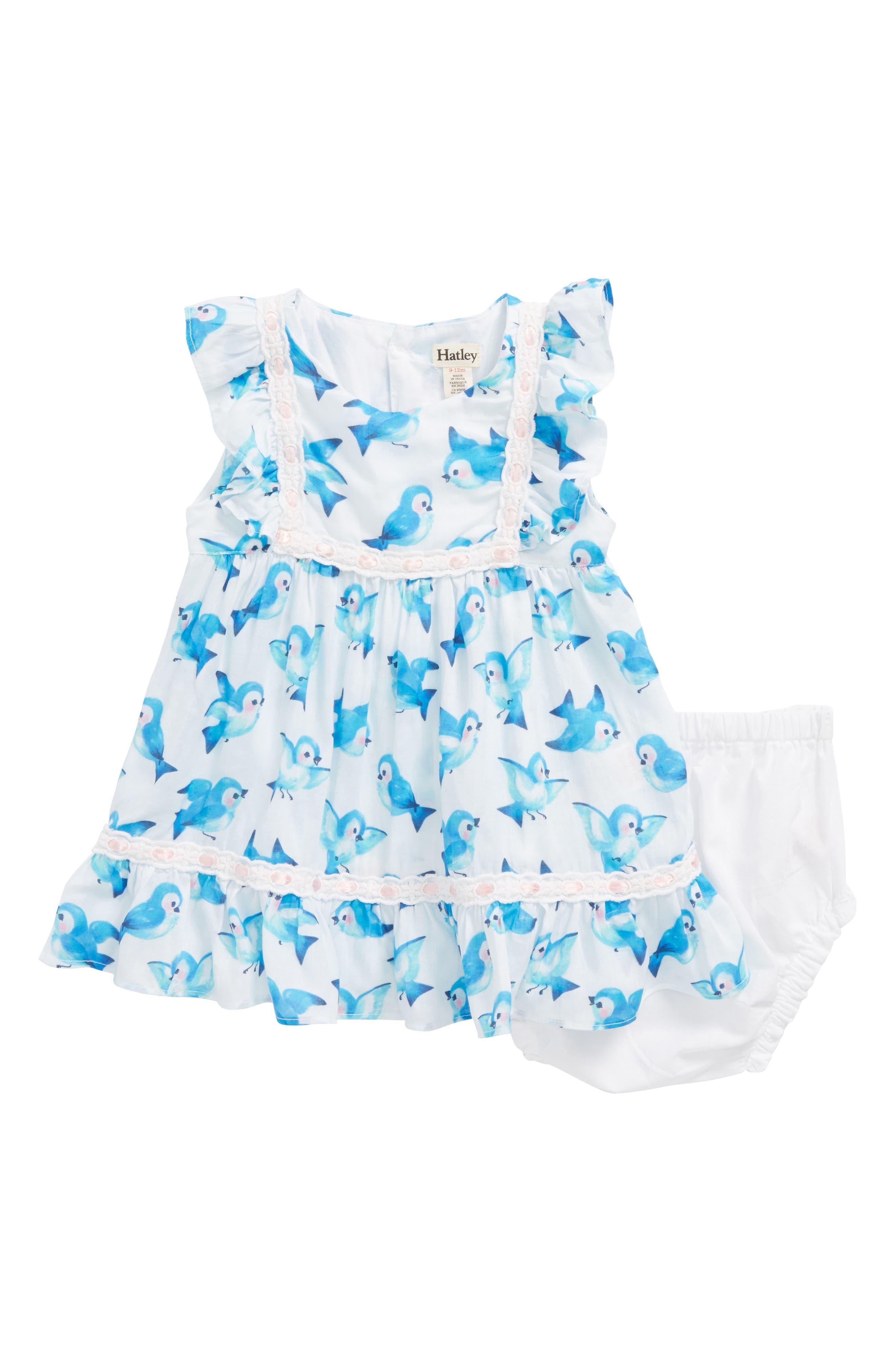 Bluebirds Dress,                             Main thumbnail 1, color,