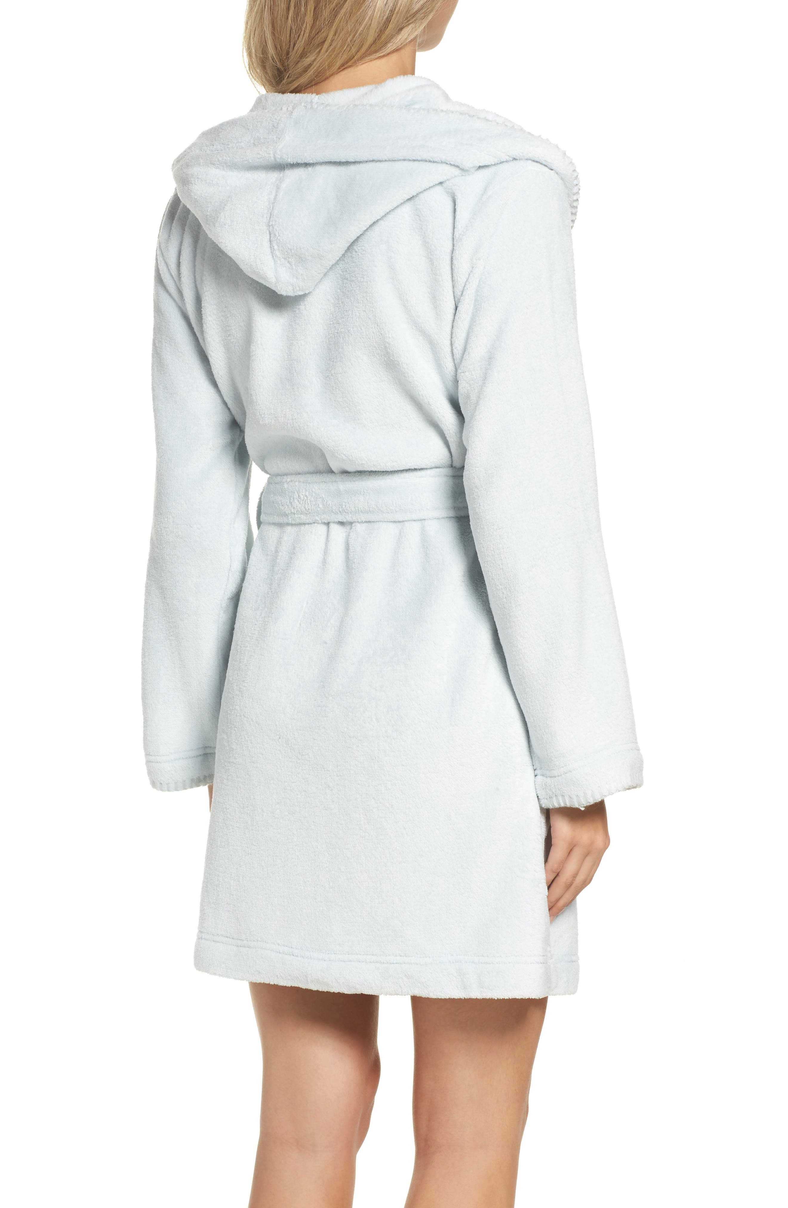 Starry Night Plush Short Robe,                             Alternate thumbnail 6, color,
