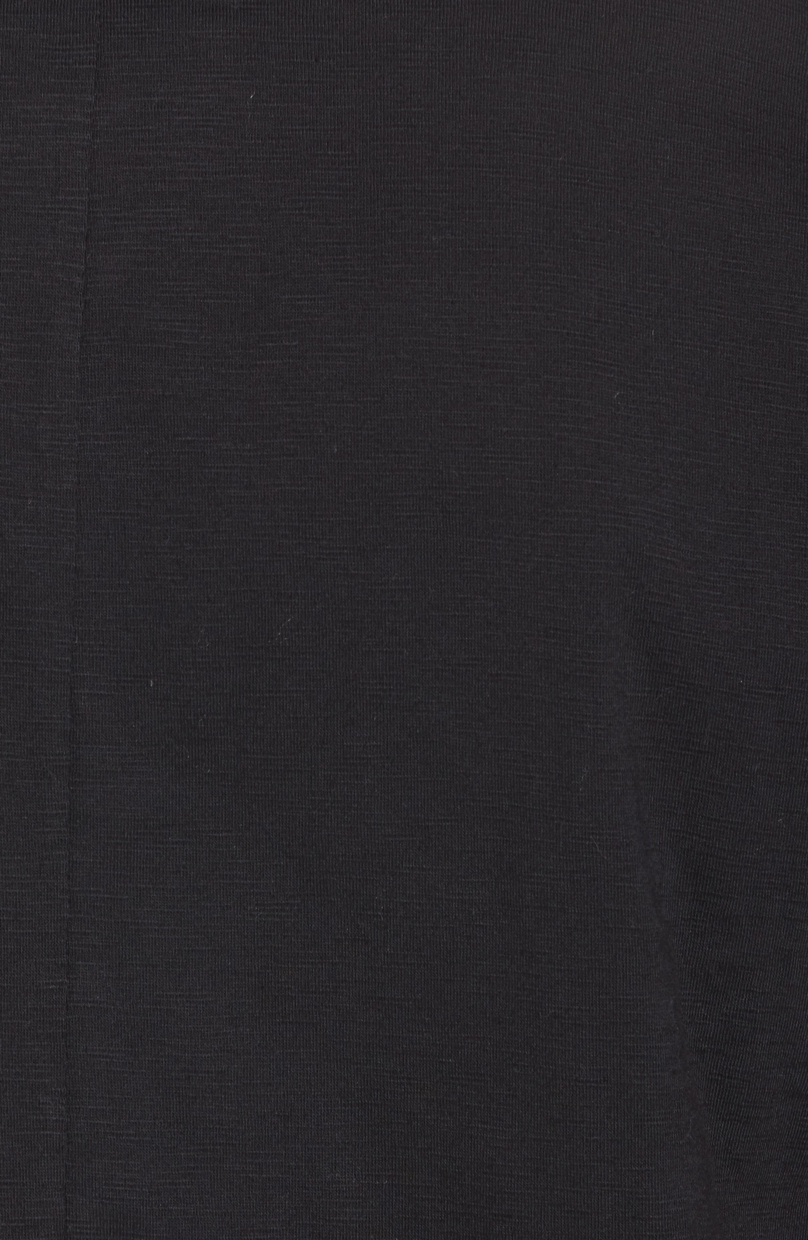 Raw Edge Strapped T-Shirt,                             Alternate thumbnail 5, color,                             001