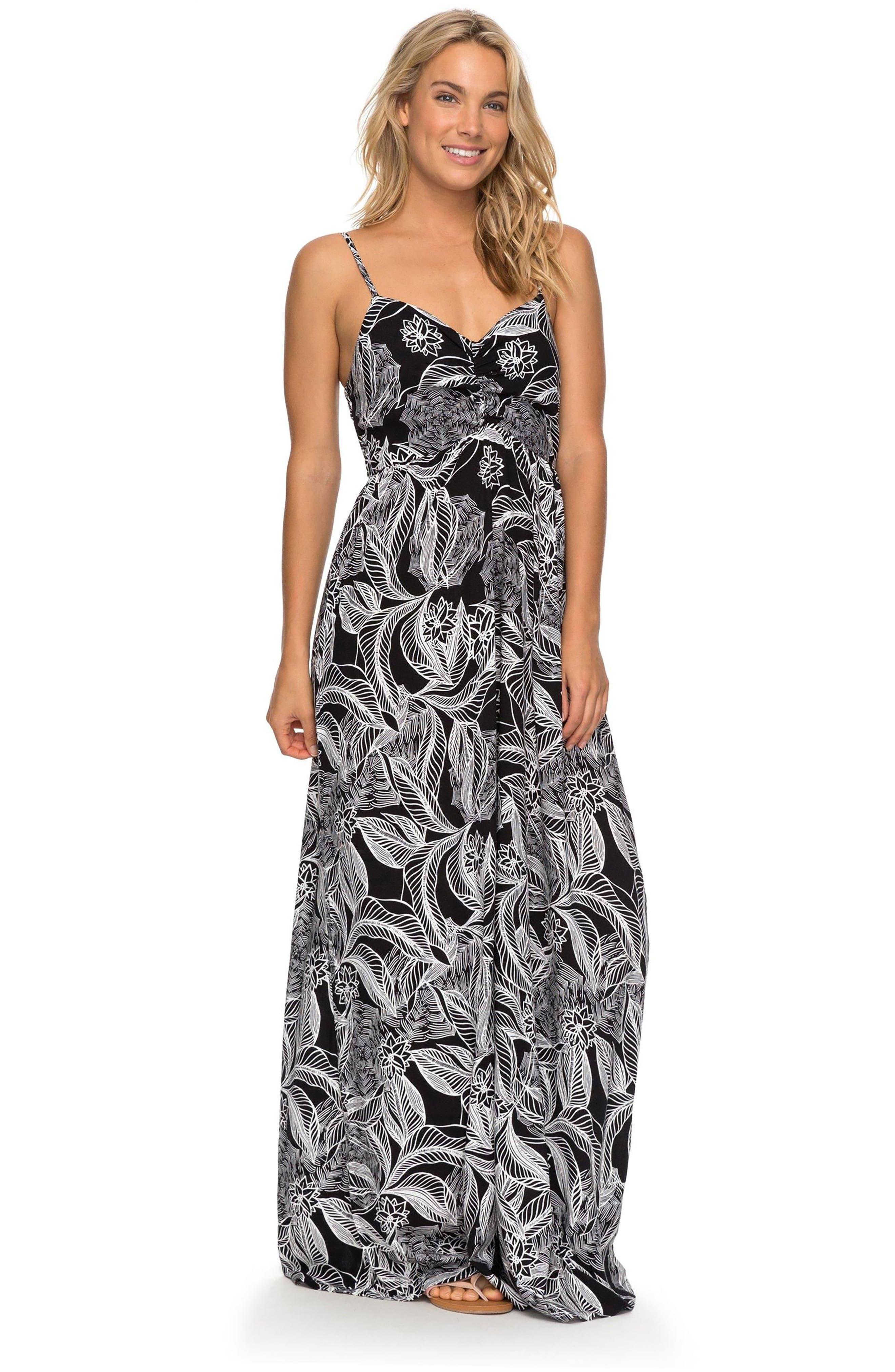 Brilliant Stars Print Maxi Dress,                             Alternate thumbnail 5, color,                             002
