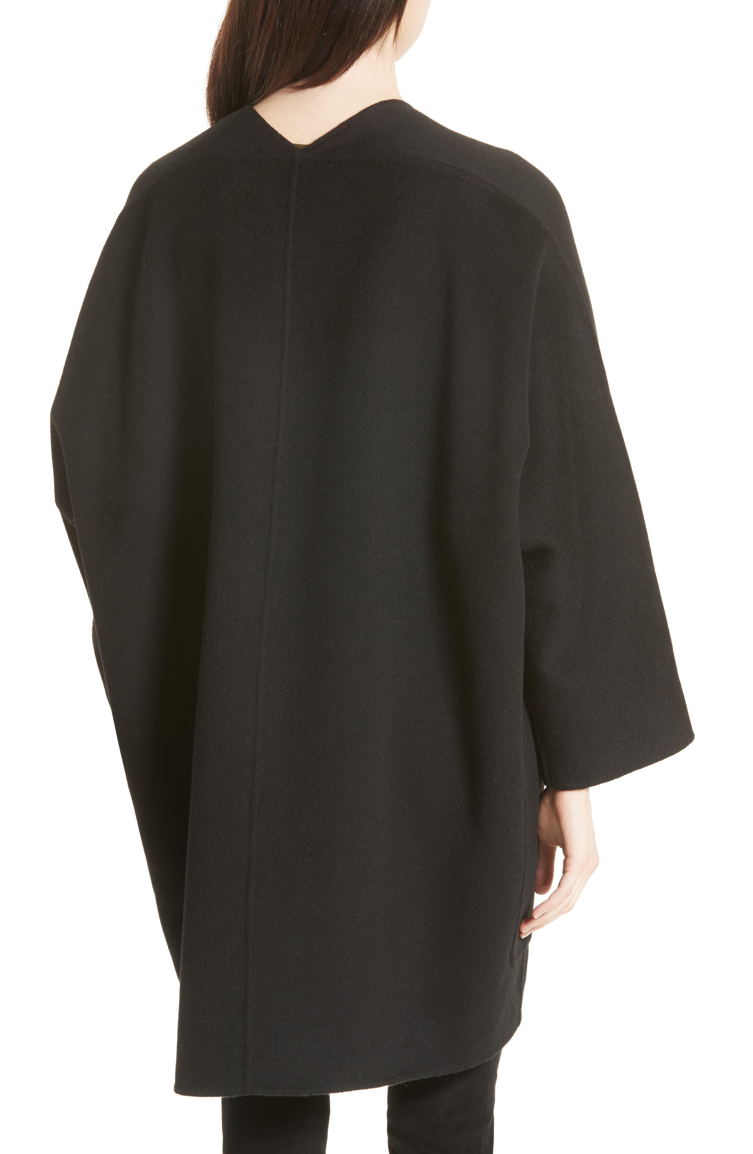 Reversible Wool & Cashmere Clutch Coat,                             Alternate thumbnail 3, color,                             006