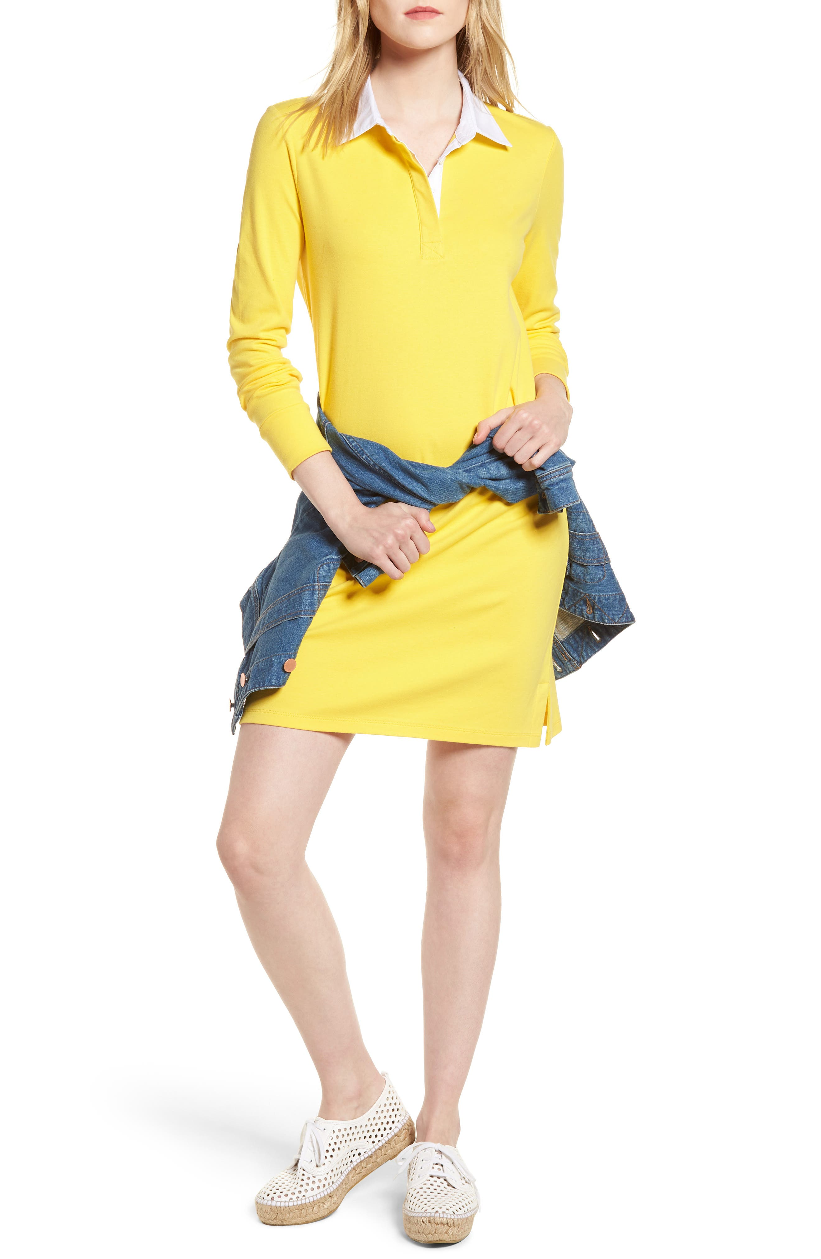 Cotton Rugby Dress,                             Main thumbnail 4, color,