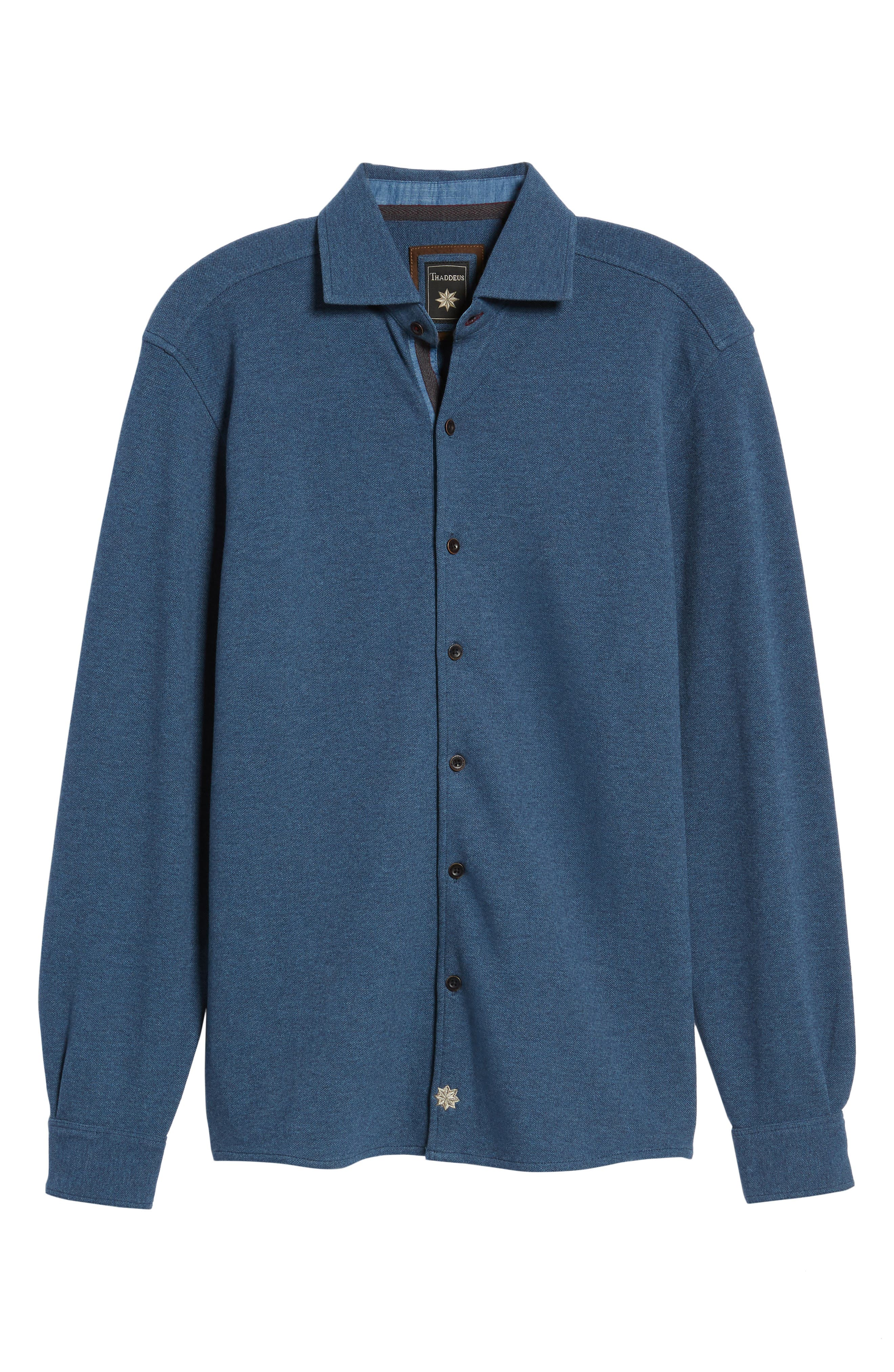 Shandy Heathered Knit Sport Shirt,                             Alternate thumbnail 12, color,
