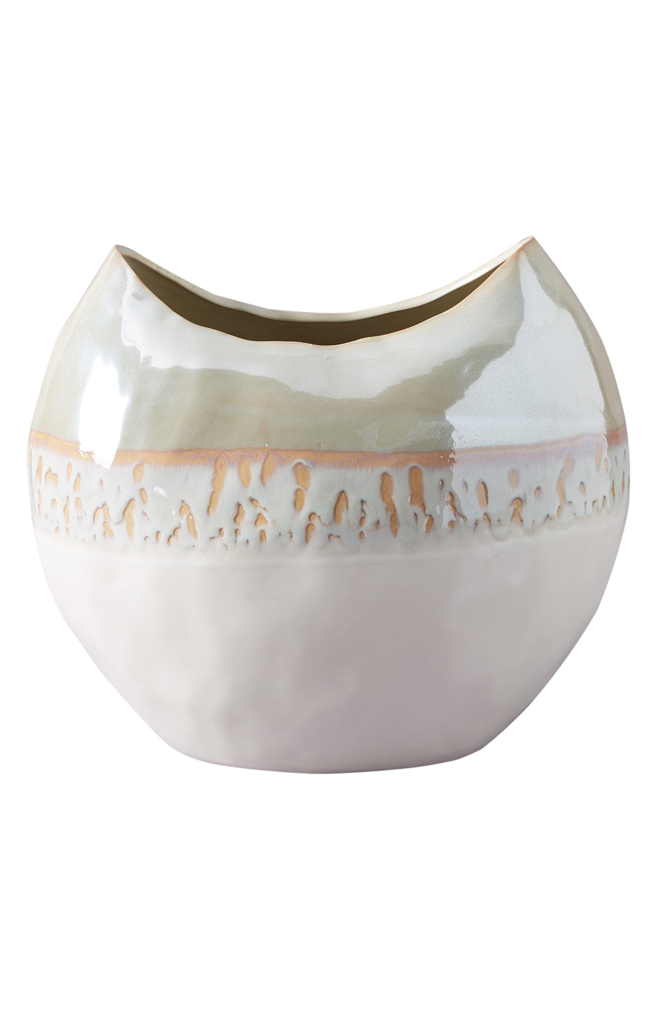 Crescent Moon Vase,                             Alternate thumbnail 4, color,                             WHITE LUSTER