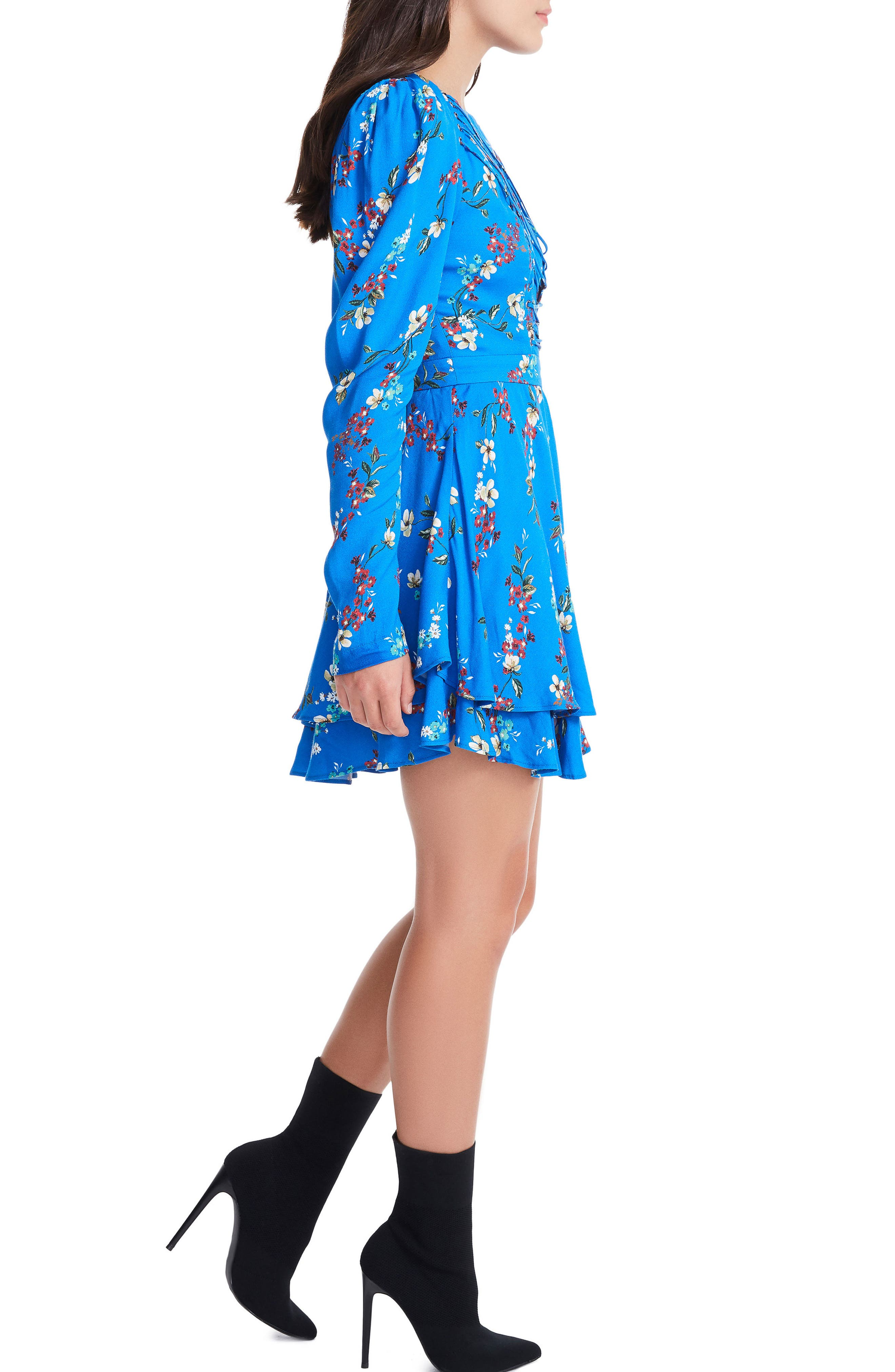 Avery Strappy Babydoll Dress,                             Alternate thumbnail 8, color,