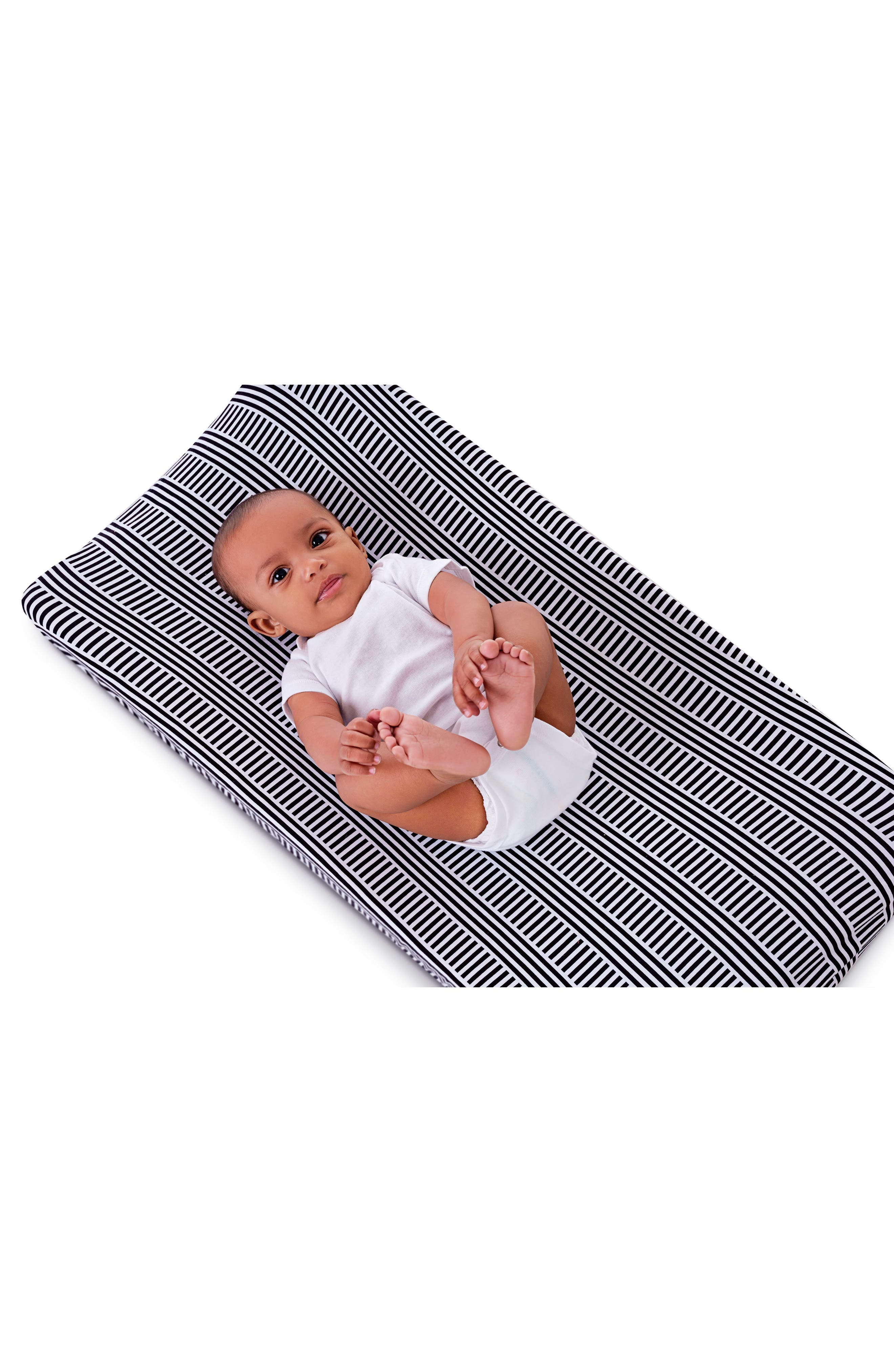 Black & White Print 2-Pack Changing Pad Covers,                             Alternate thumbnail 3, color,                             BLACK AND WHITE