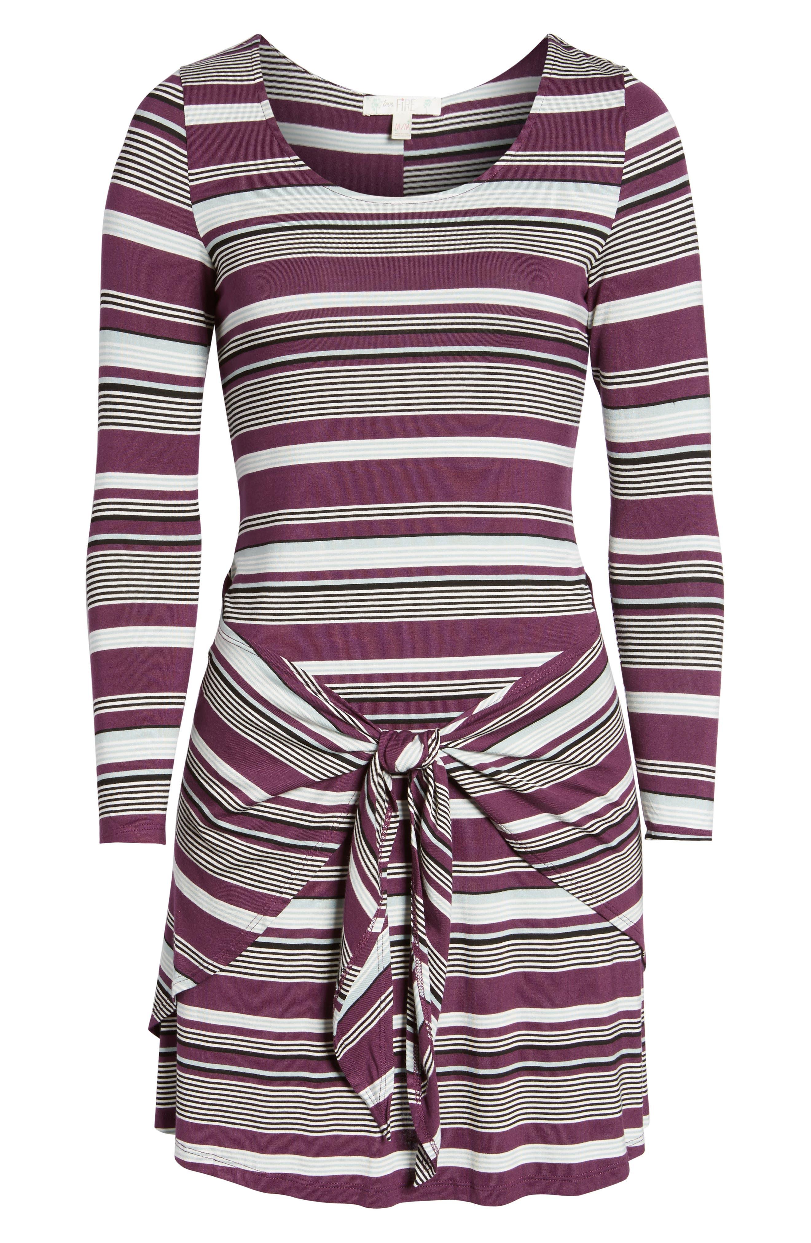 Tie Waist Dress,                             Alternate thumbnail 12, color,