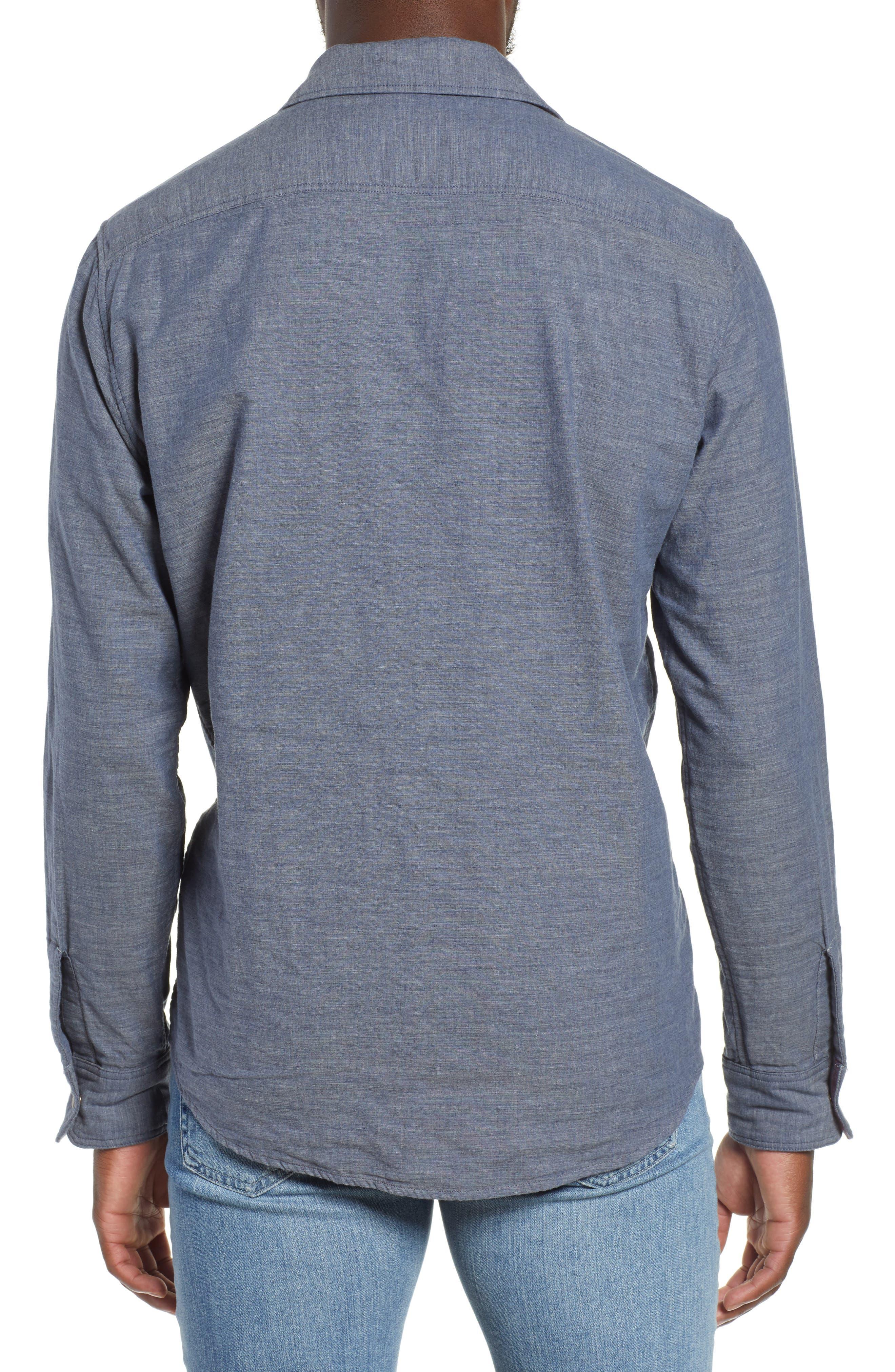 Belmar Reversible Sport Shirt,                             Alternate thumbnail 4, color,                             SLATE HEATHER / SERAPE
