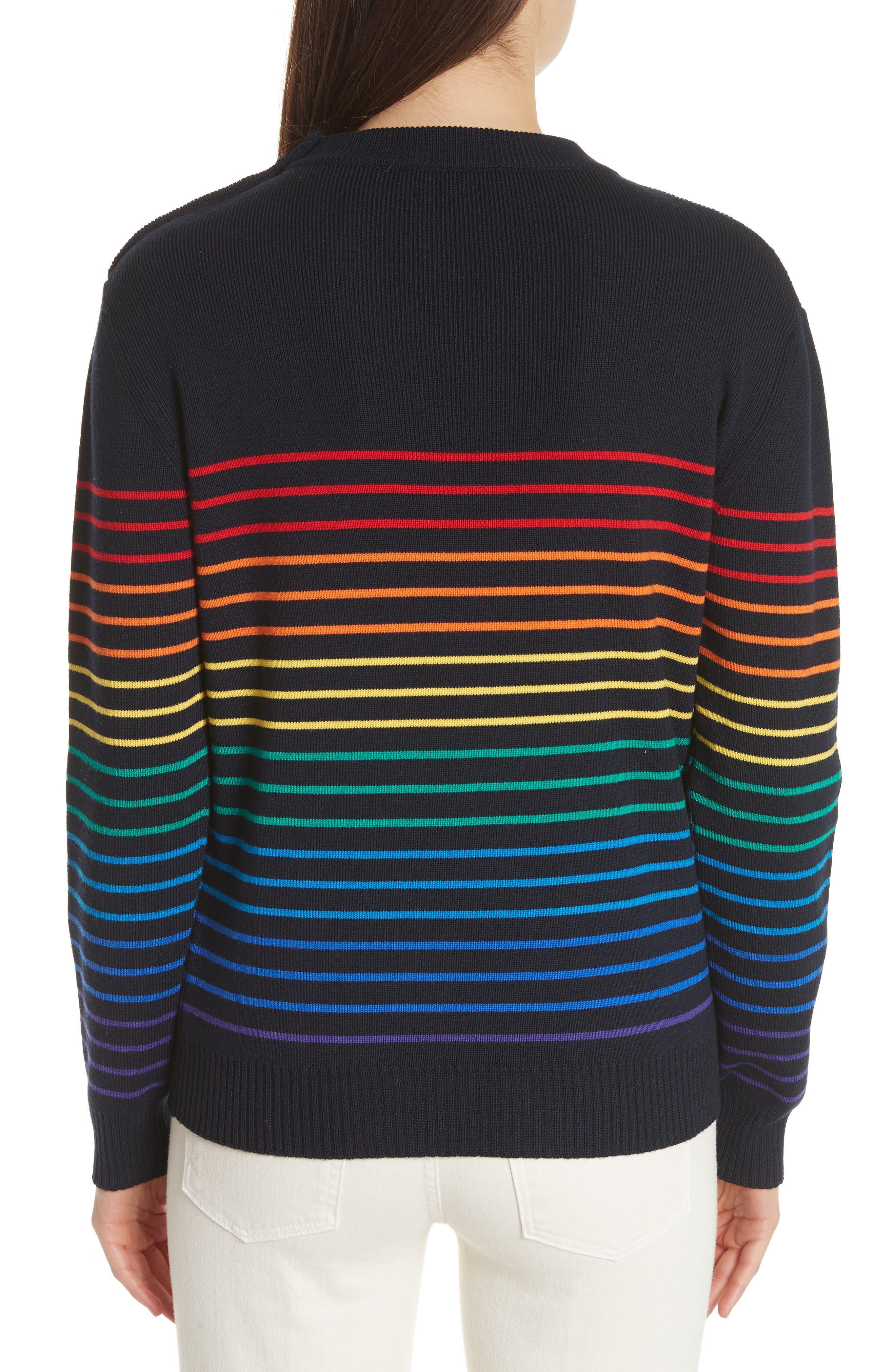 Marinière Stripe Wool Sweater,                             Alternate thumbnail 2, color,                             400