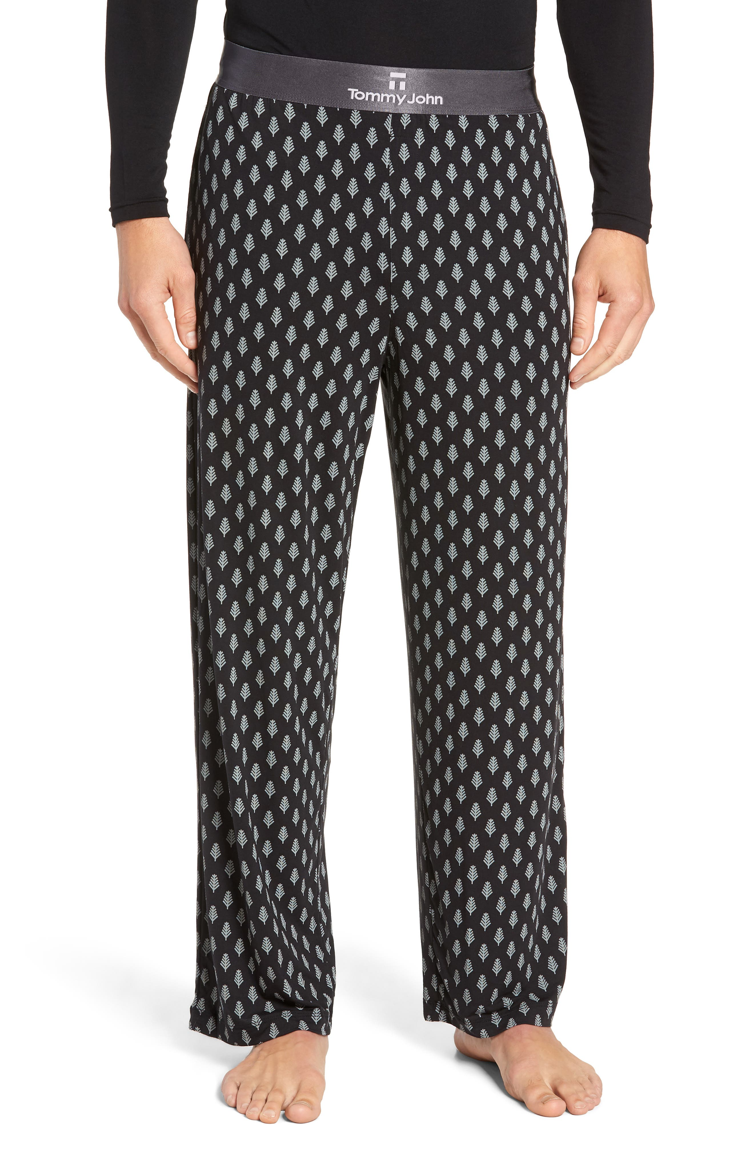 Second Skin Lounge Pants,                             Main thumbnail 1, color,                             BLACK SNOWY FOREST