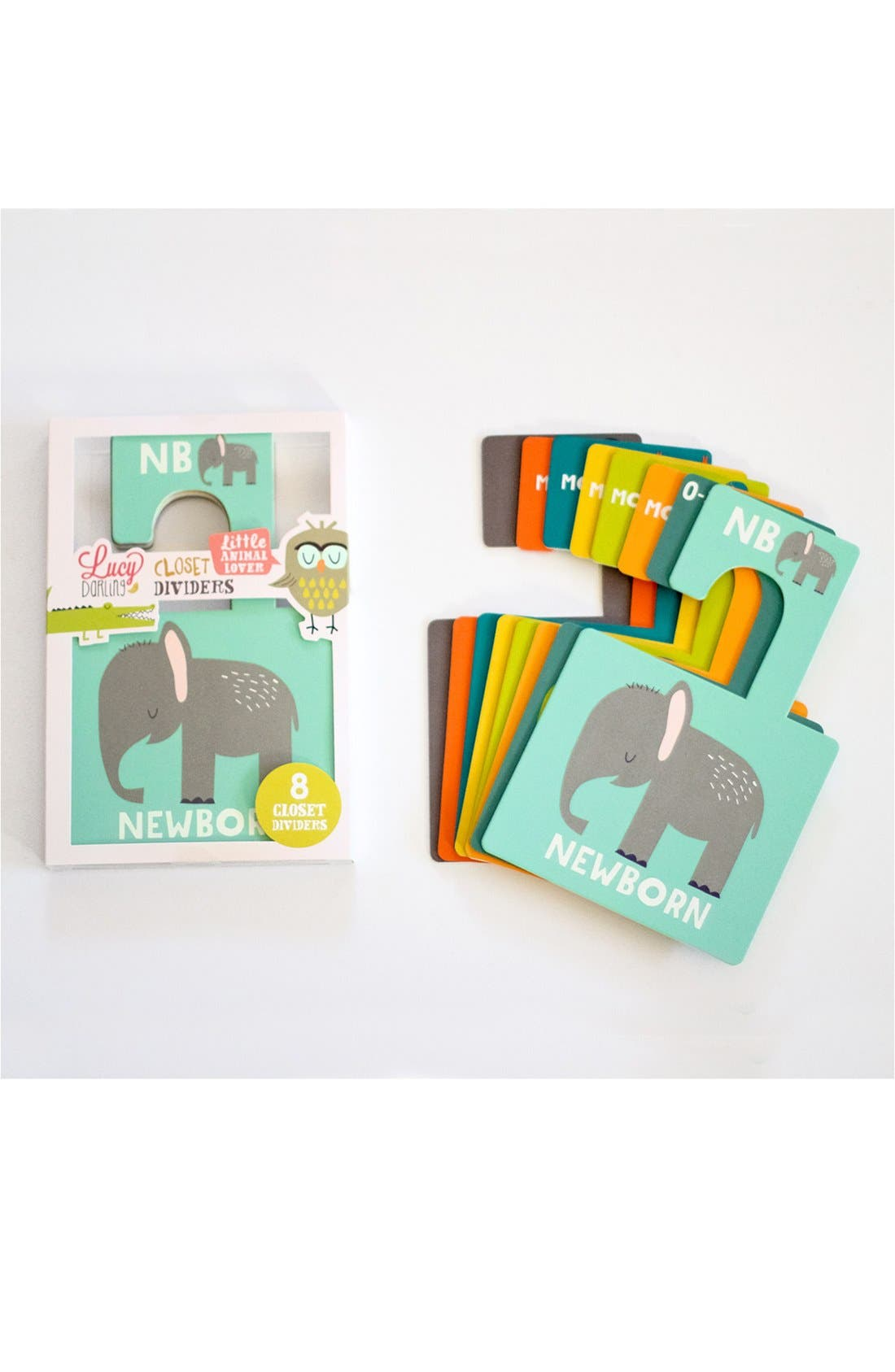 'Little Animal Lover' Closet Dividers,                         Main,                         color, GREEN