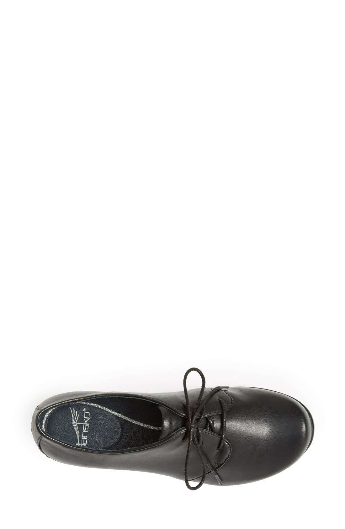 'Olive' Lace-Up Flat,                             Alternate thumbnail 3, color,                             001