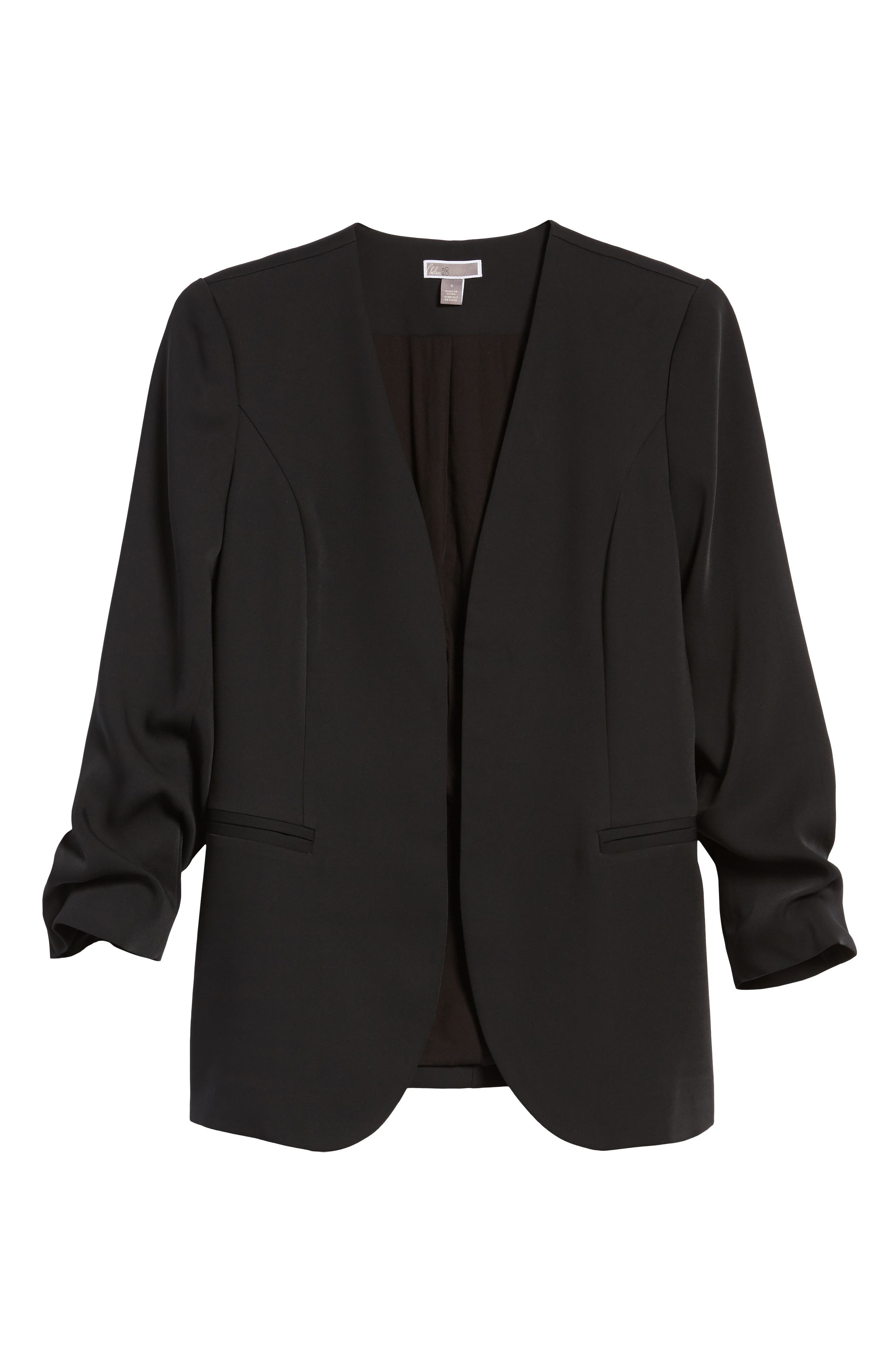 Ruched Sleeve Blazer,                             Alternate thumbnail 3, color,