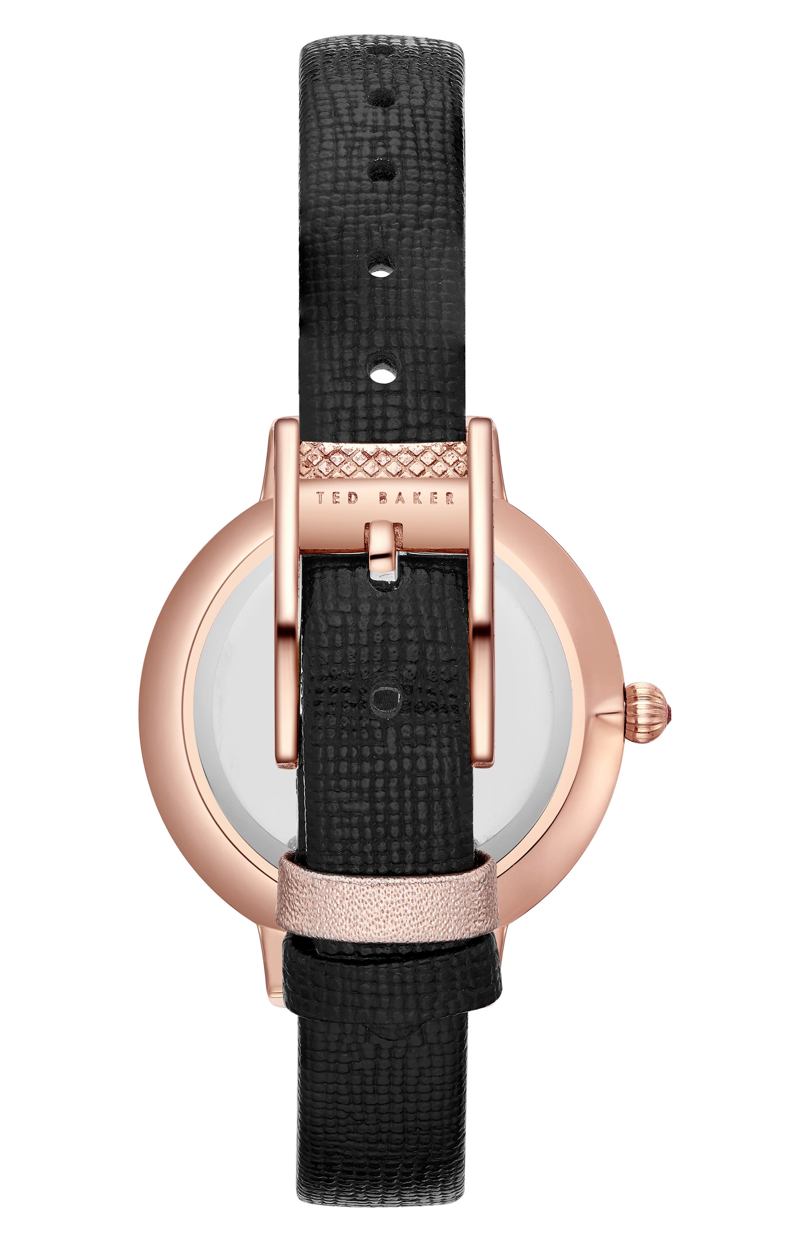 Kate Leather Strap Watch, 36mm,                             Alternate thumbnail 2, color,                             001