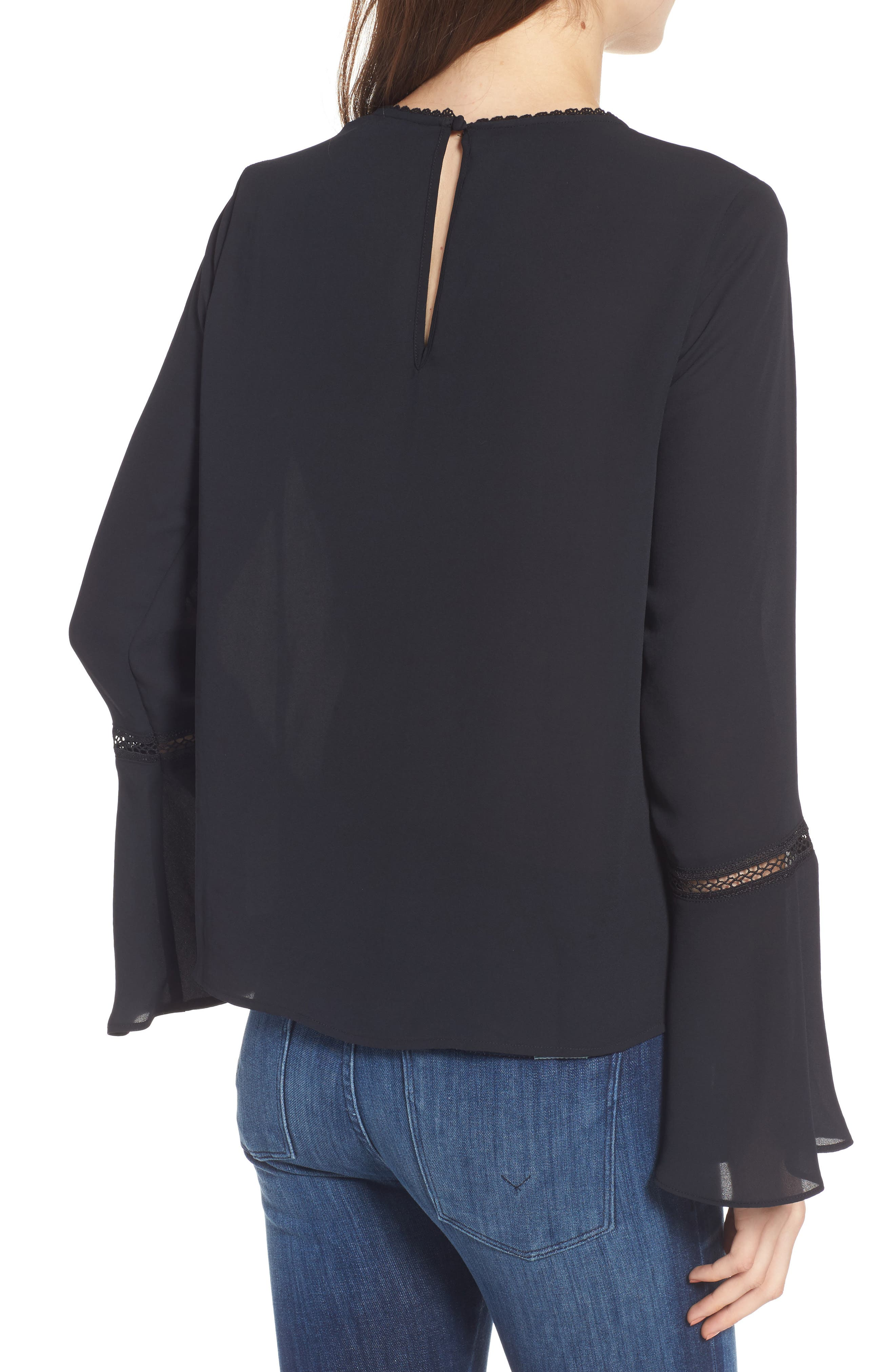 Chava Bell Sleeve Top,                             Alternate thumbnail 2, color,                             001