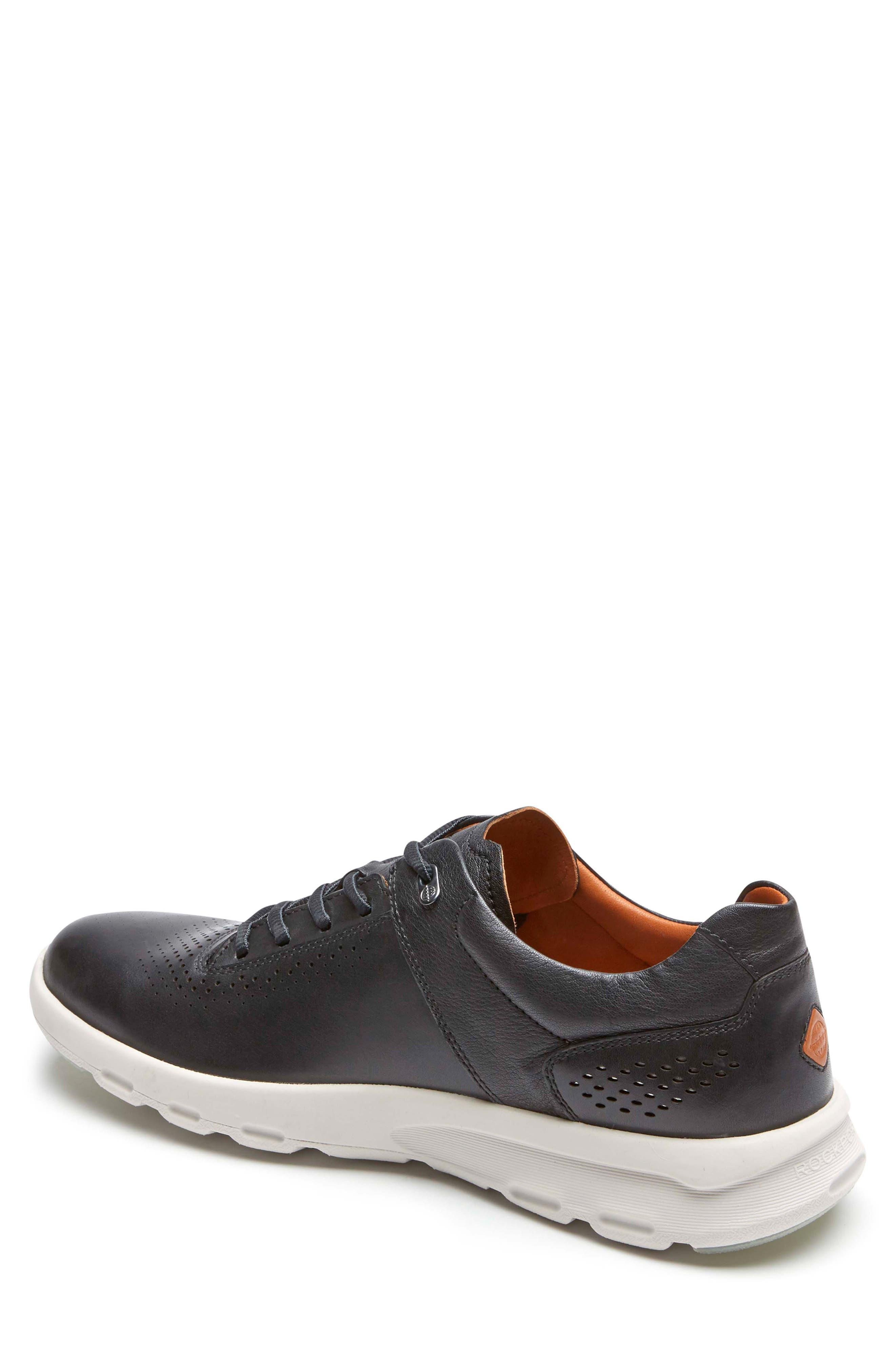 Let's Walk<sup>®</sup> Sneaker,                             Alternate thumbnail 2, color,                             BLACK LEATHER