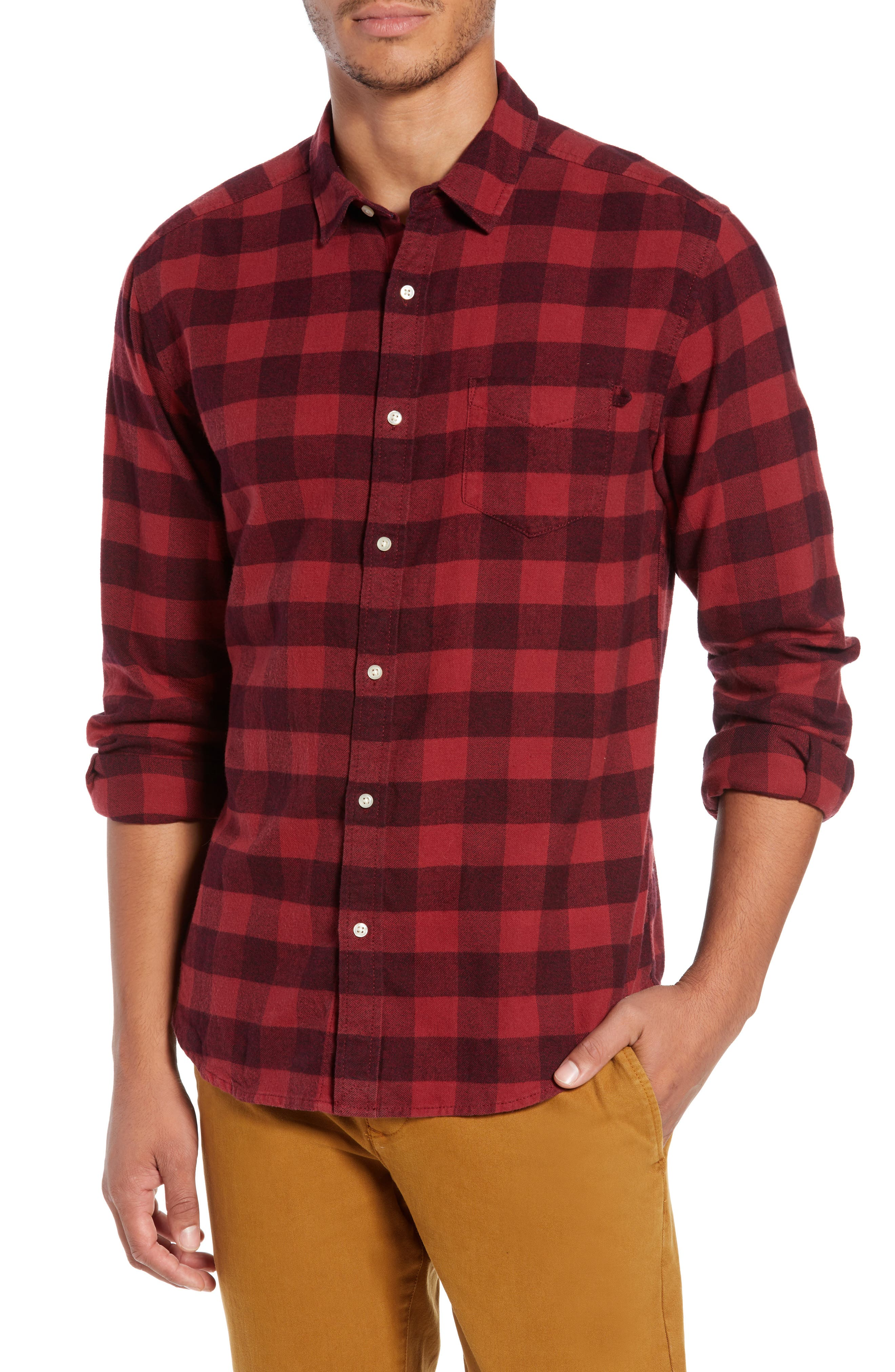 Life/after/denim Allegheny Regular Fit Check Sport Shirt, Red