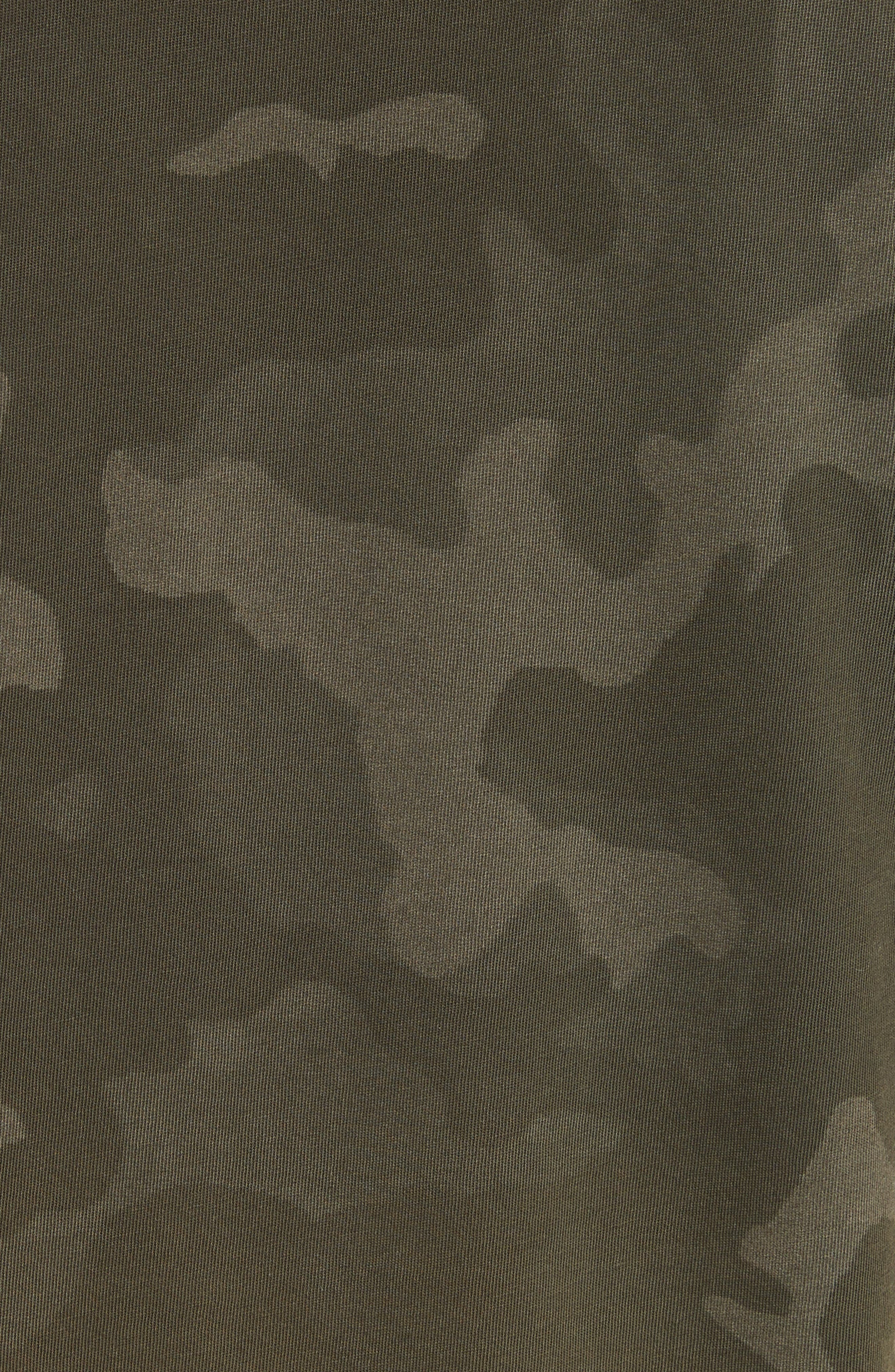 Camouflage Print Cotton Tee,                             Alternate thumbnail 5, color,                             341