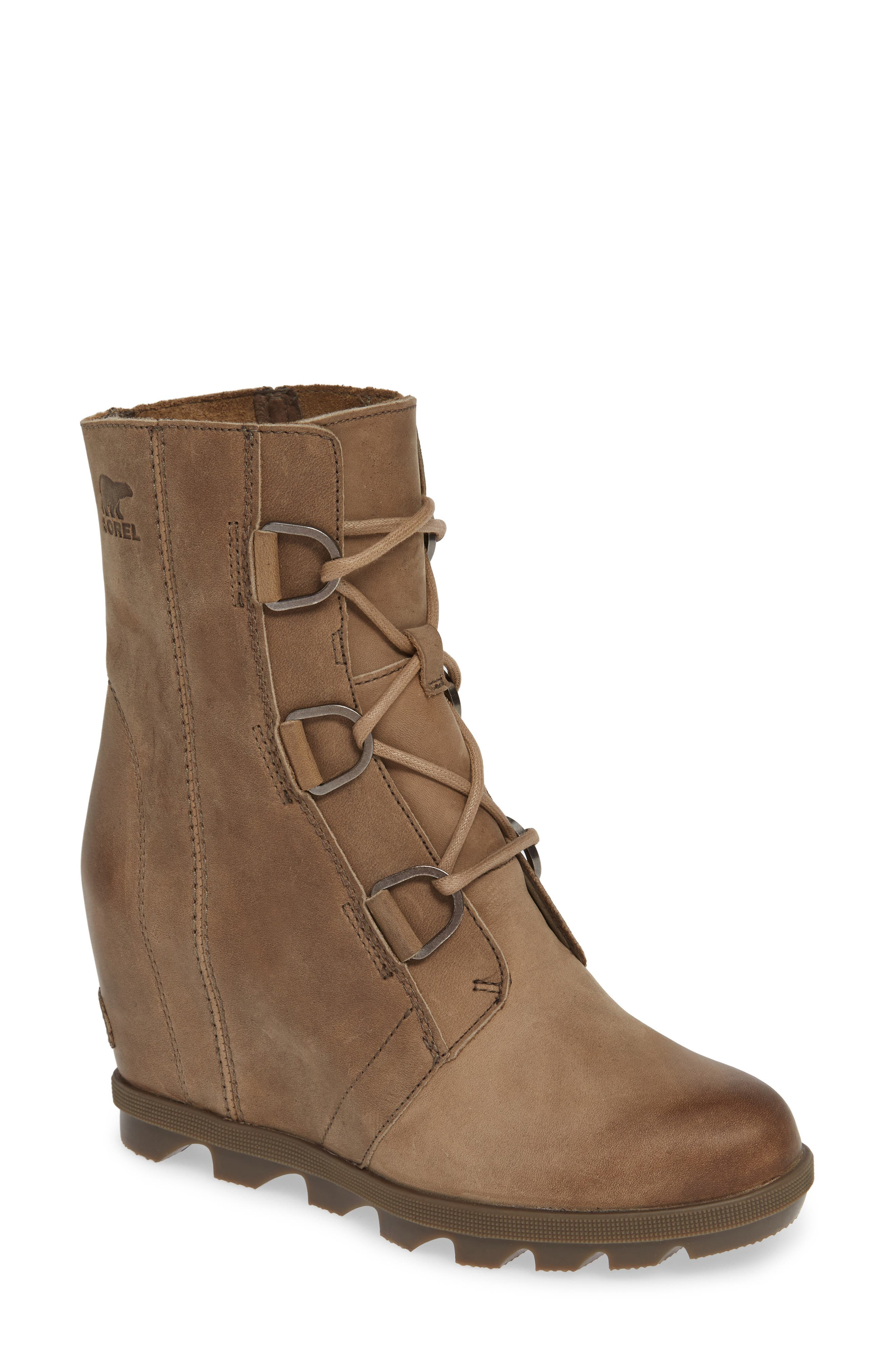 Sorel Joan Of Arctic Ii Waterproof Wedge Boot- Brown