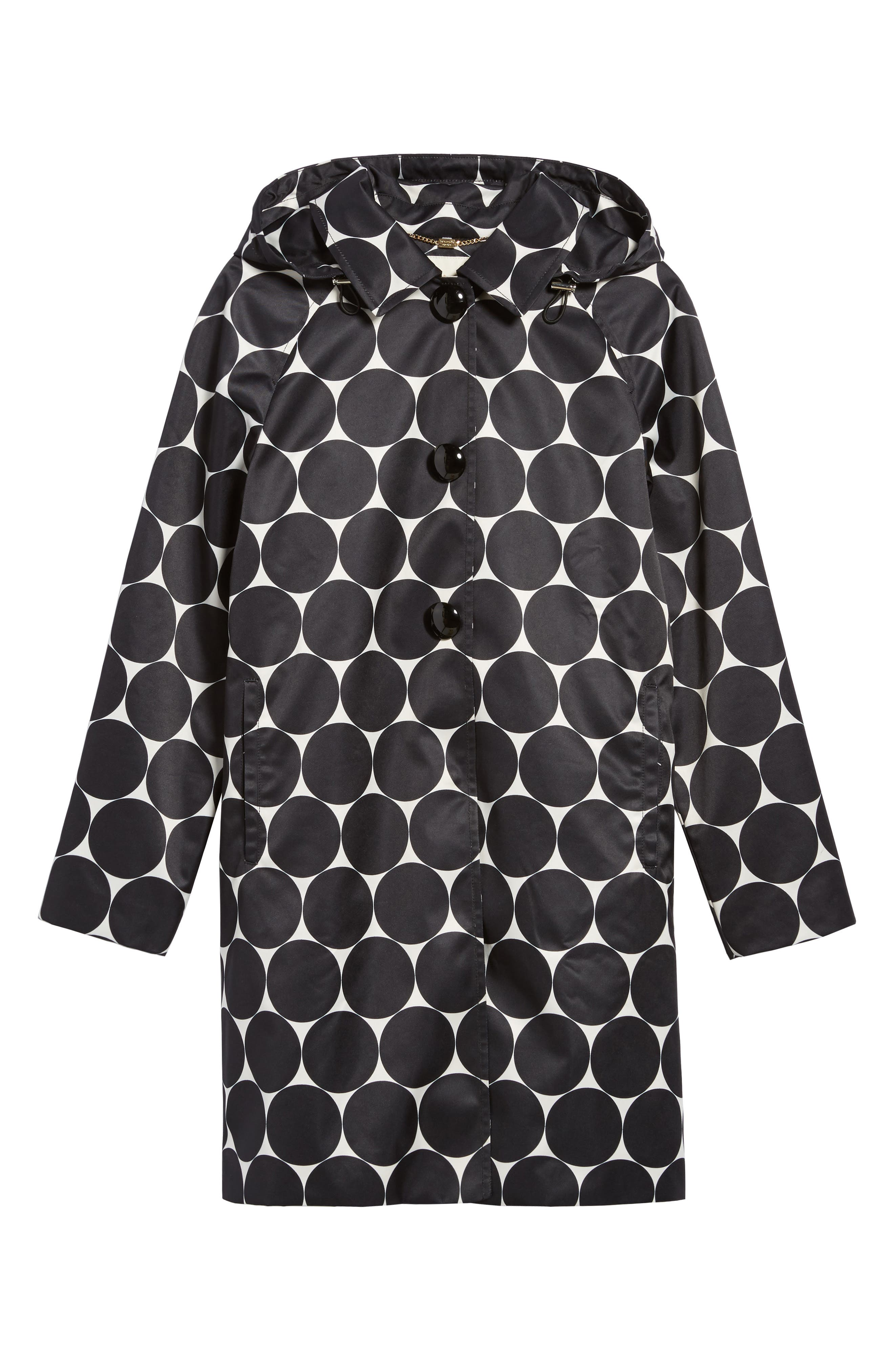 dot print raincoat,                             Alternate thumbnail 5, color,                             009