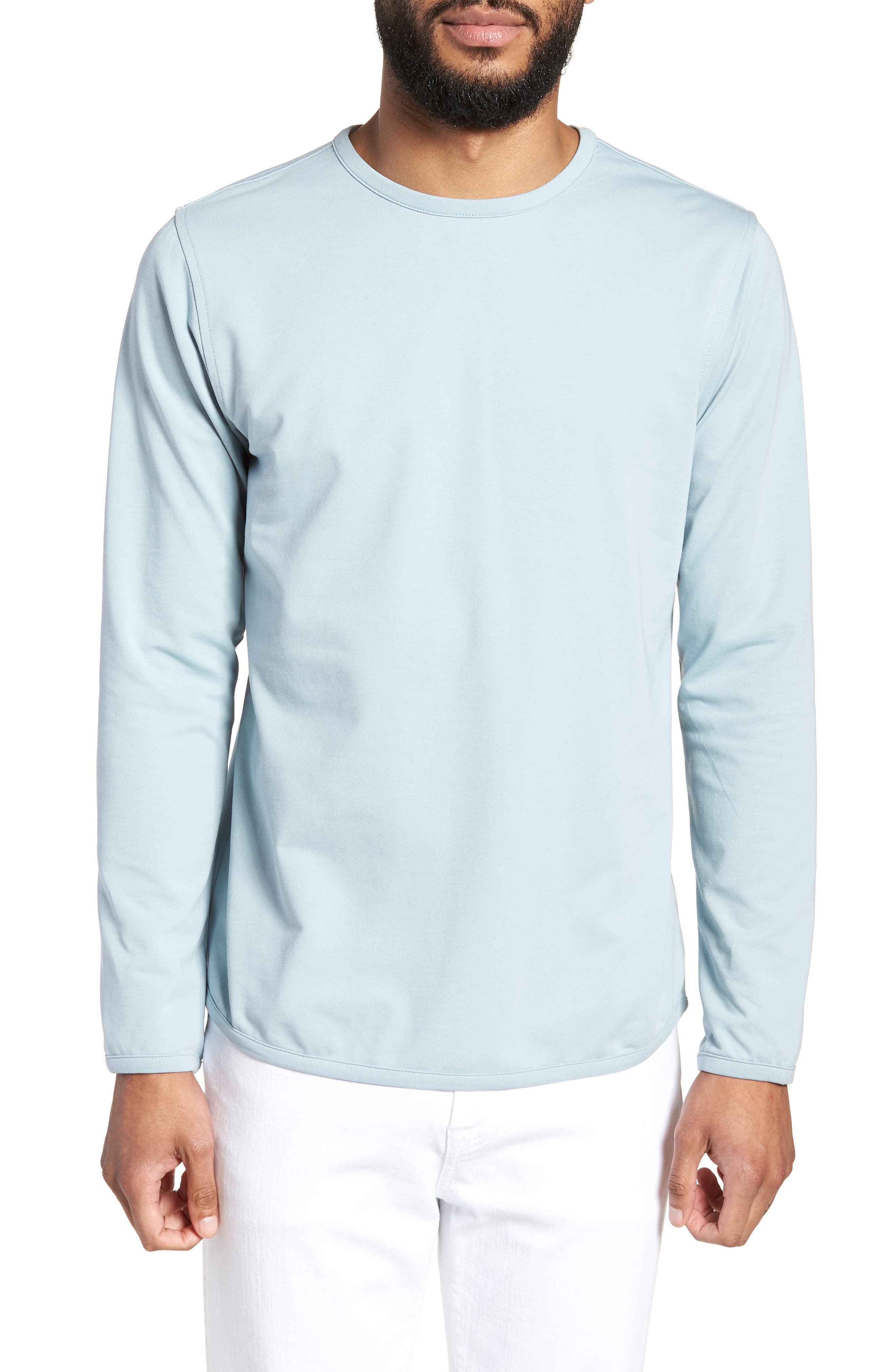 Trim Fit Long Sleeve T-Shirt,                             Main thumbnail 2, color,