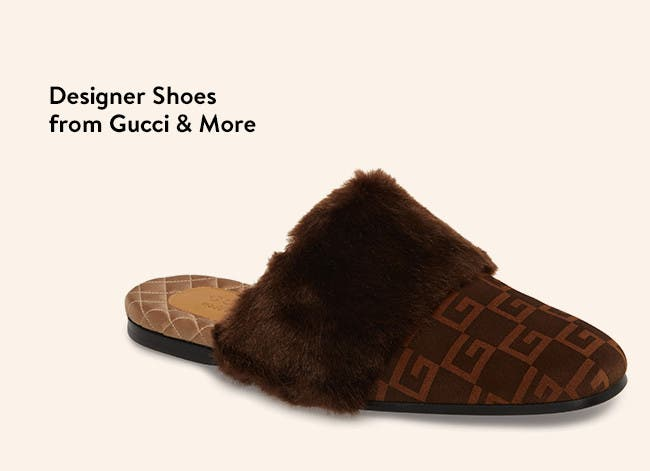 Designer Shoes from Gucci & More.