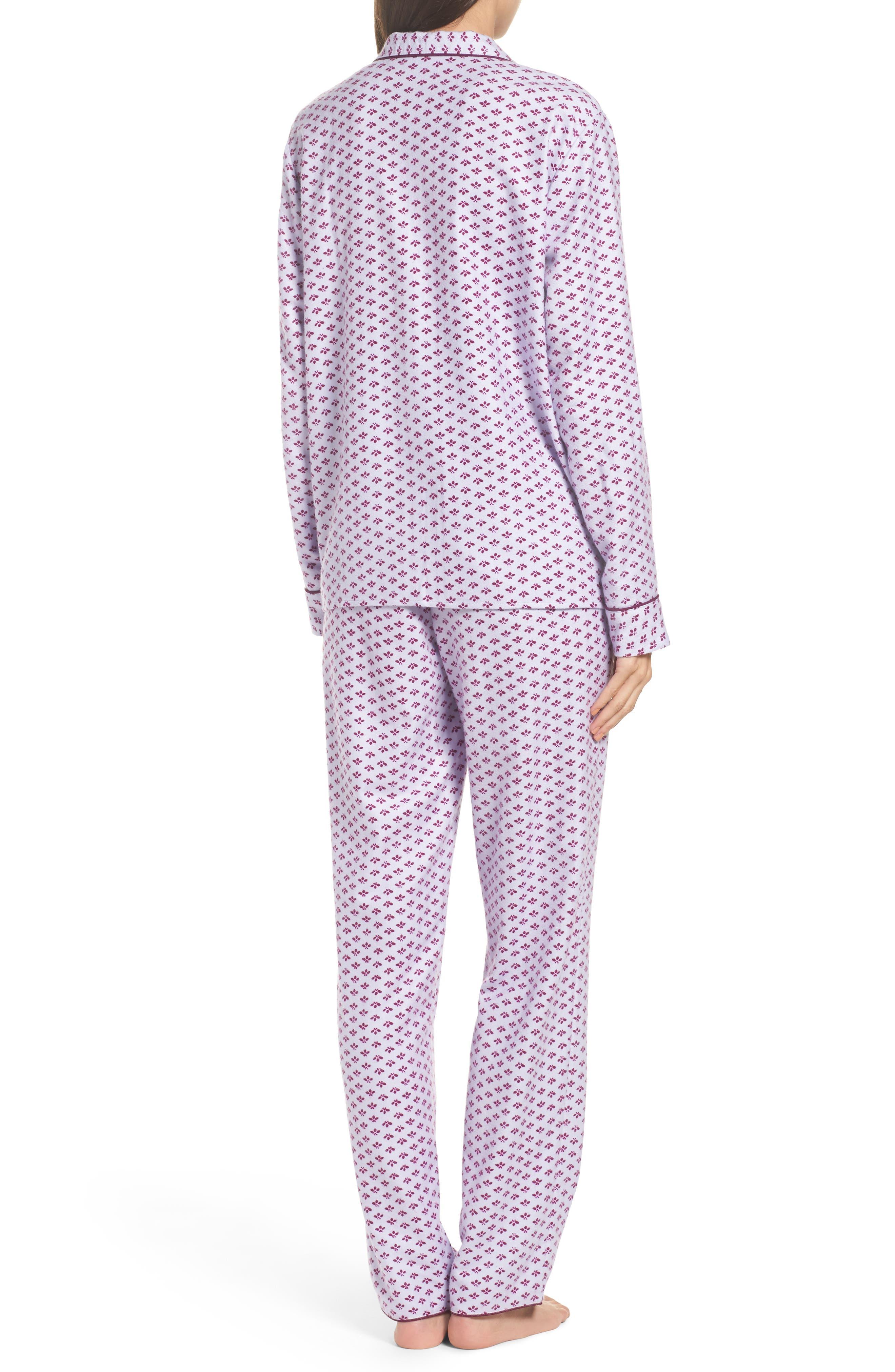 Lingerie Starlight Flannel Pajamas,                             Alternate thumbnail 9, color,