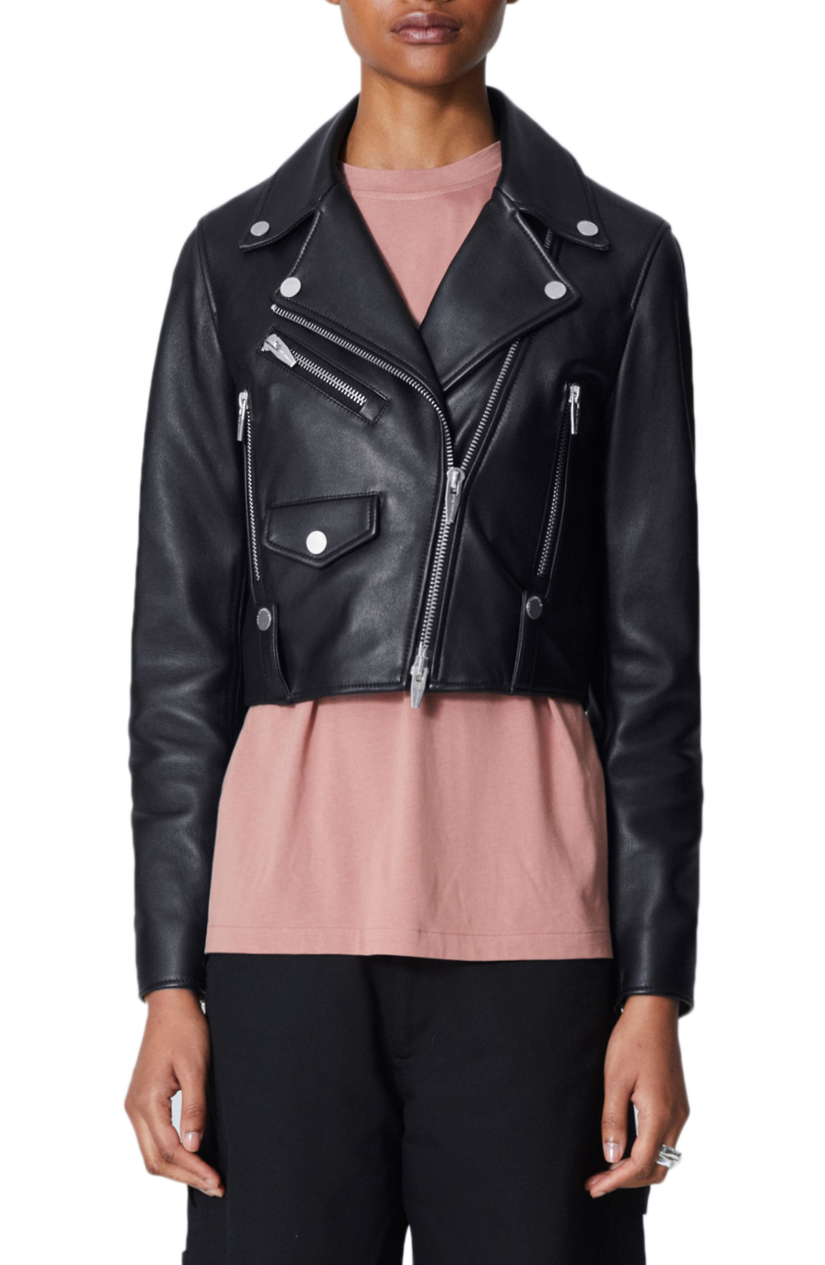THE ARRIVALS Clo Mini Leather Jacket in Black