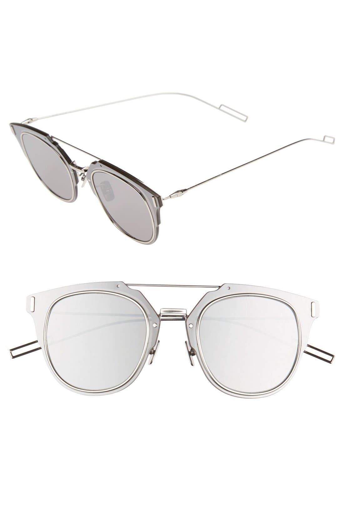 'Composit 1.0S' 62mm Metal Shield Sunglasses,                         Main,                         color, PALLADIUM/ GREY SILVER MIRROR