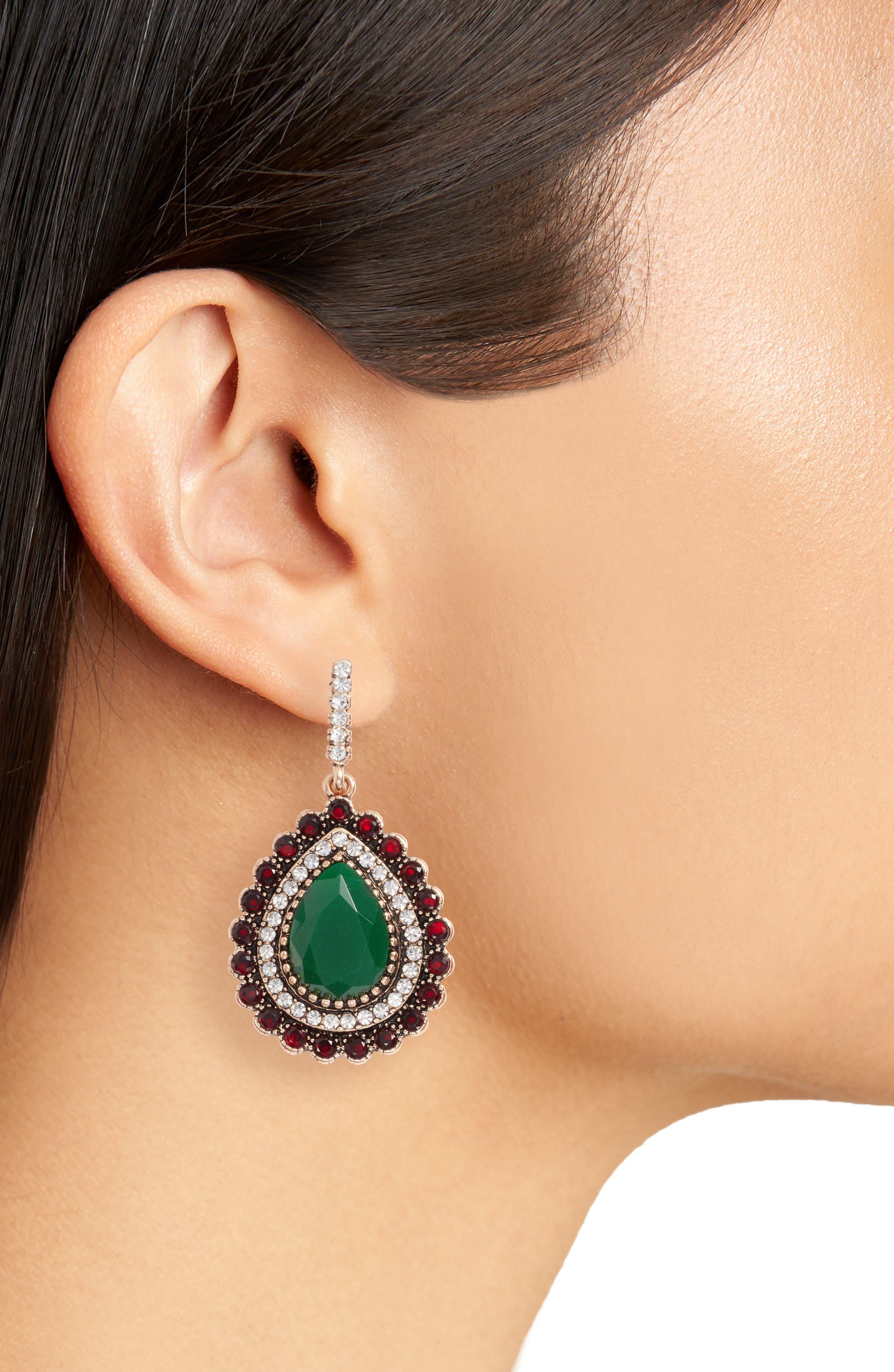 Lily Teardrop Earrings,                             Alternate thumbnail 2, color,                             300
