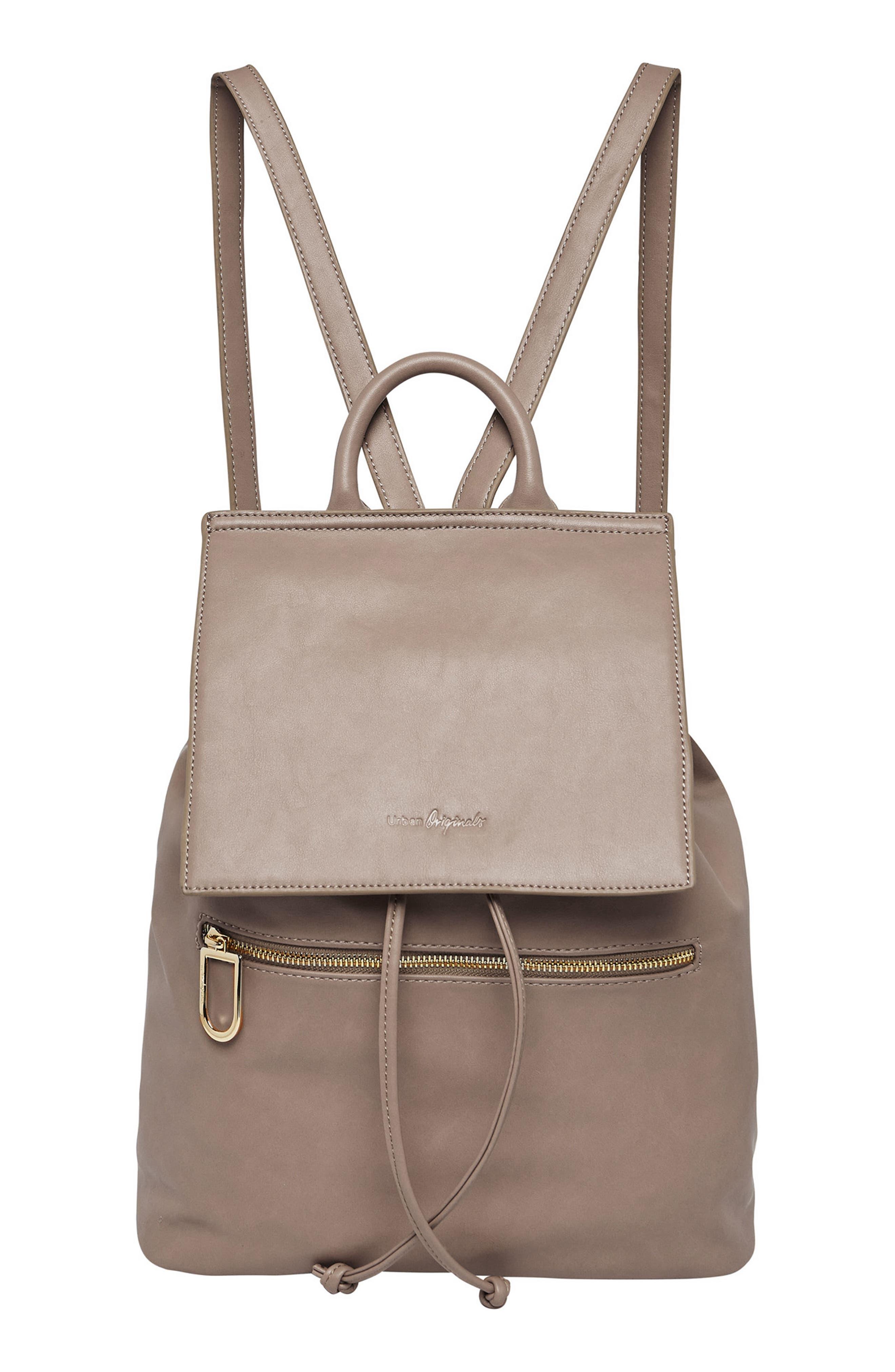 Vegan Leather Hide And Seek Backpack - Grey in Mid Grey