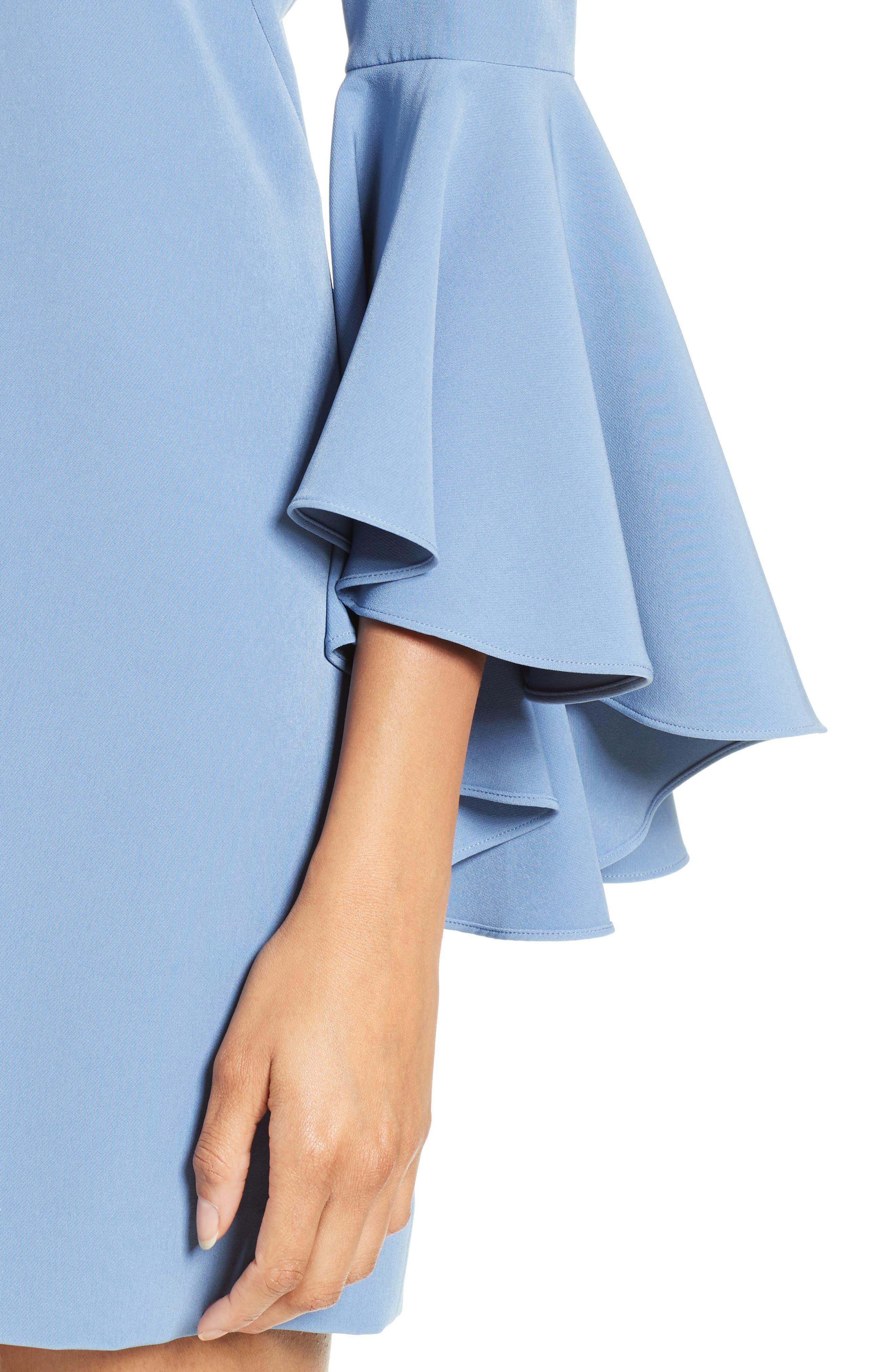 Nicole Bell Sleeve Dress,                             Alternate thumbnail 54, color,