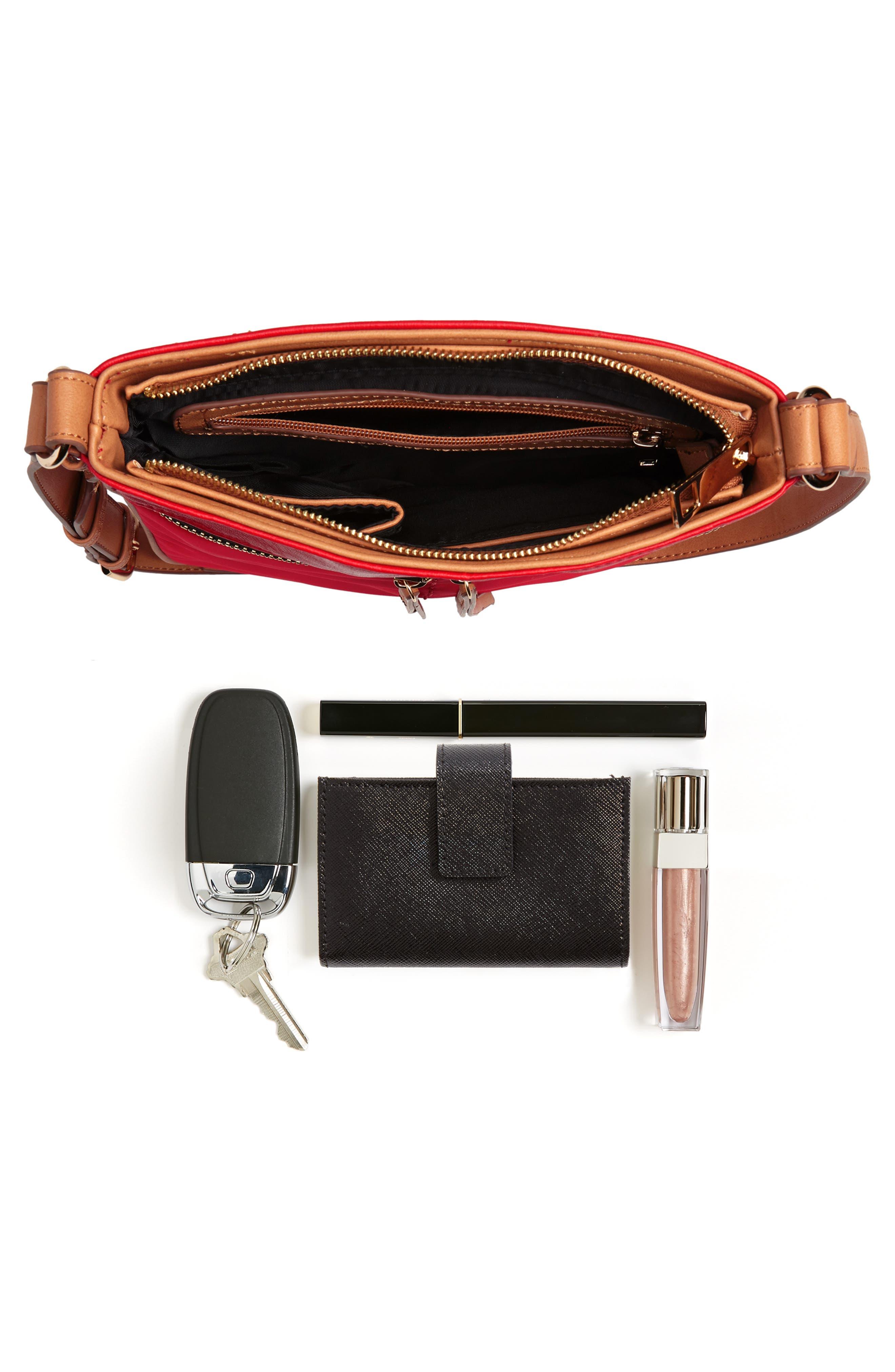 Nylon & Faux Leather Crossbody Bag,                             Alternate thumbnail 7, color,                             600
