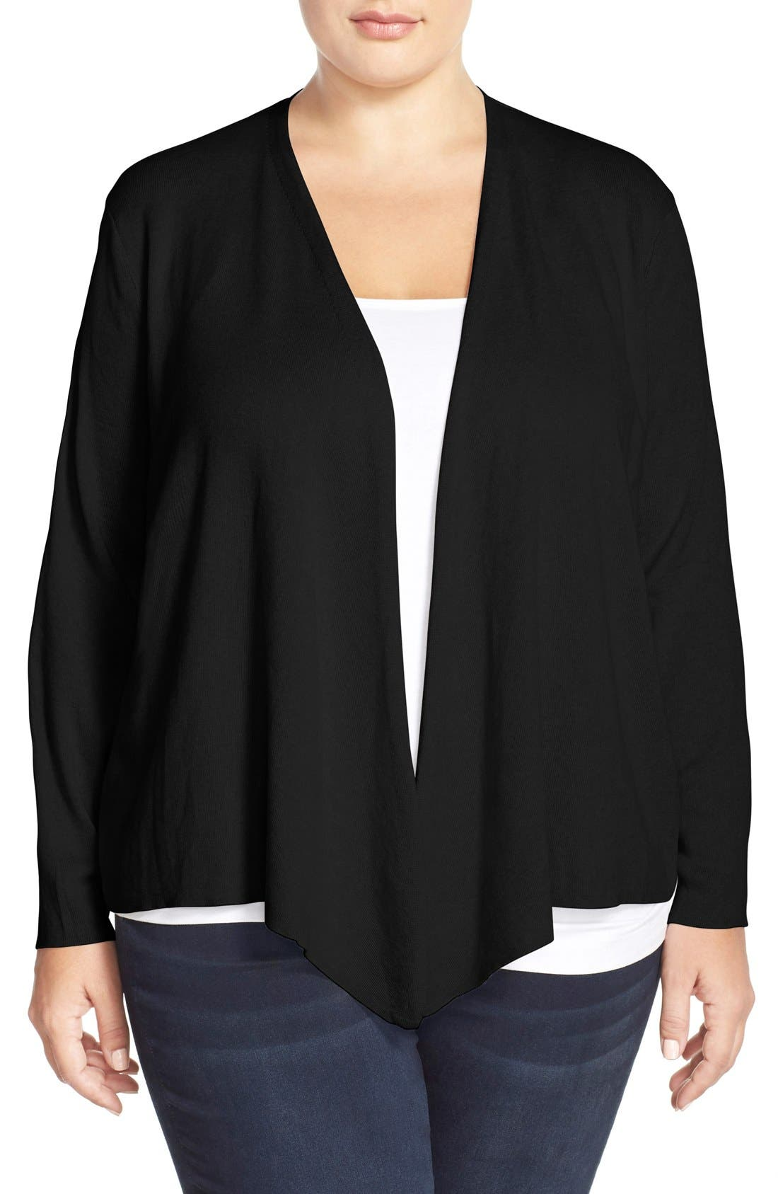 4-Way Convertible Cardigan,                             Main thumbnail 1, color,                             BLACK ONYX