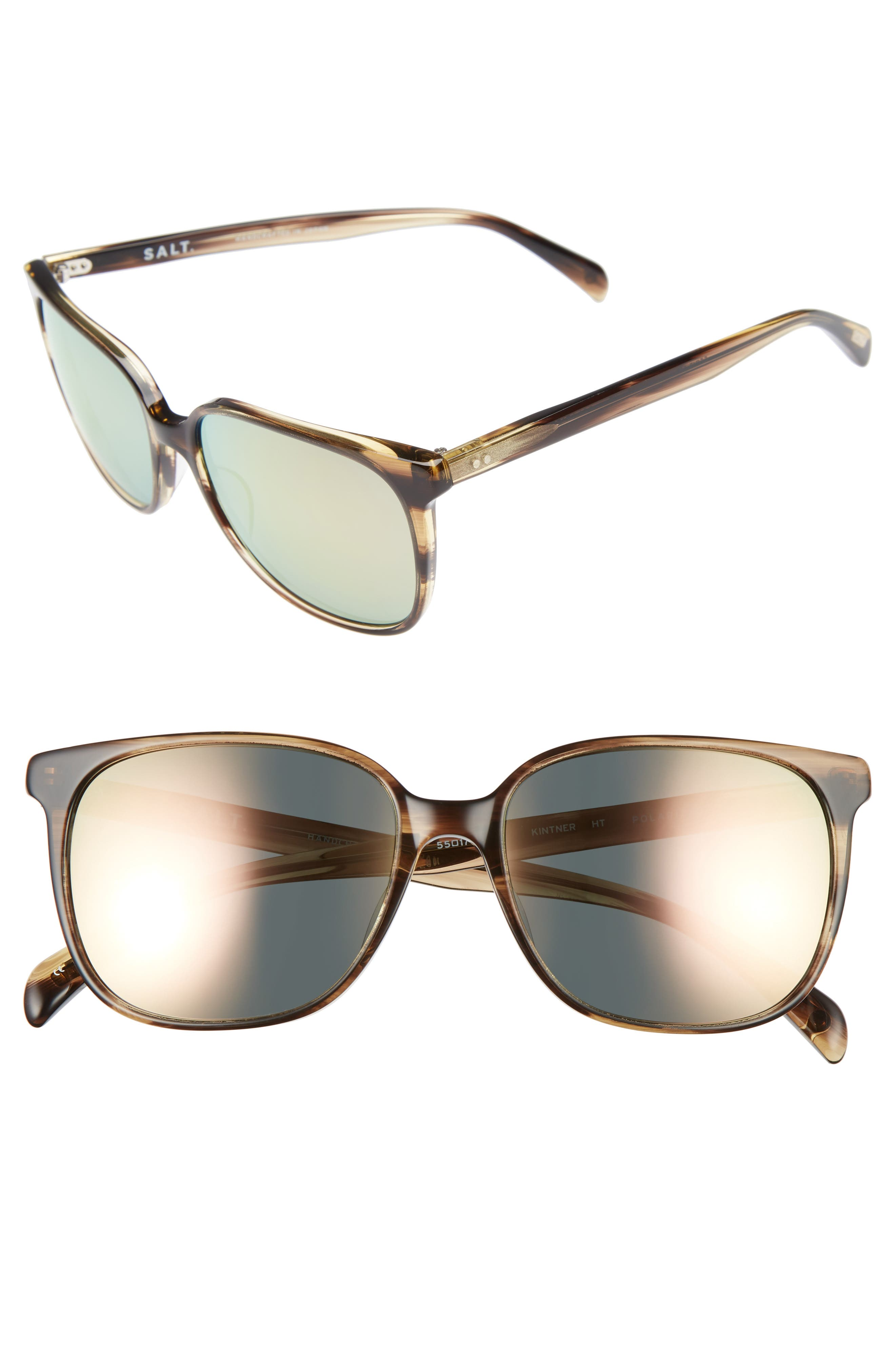 Kintner 55mm Polarized Cat Eye Sunglasses,                             Main thumbnail 3, color,