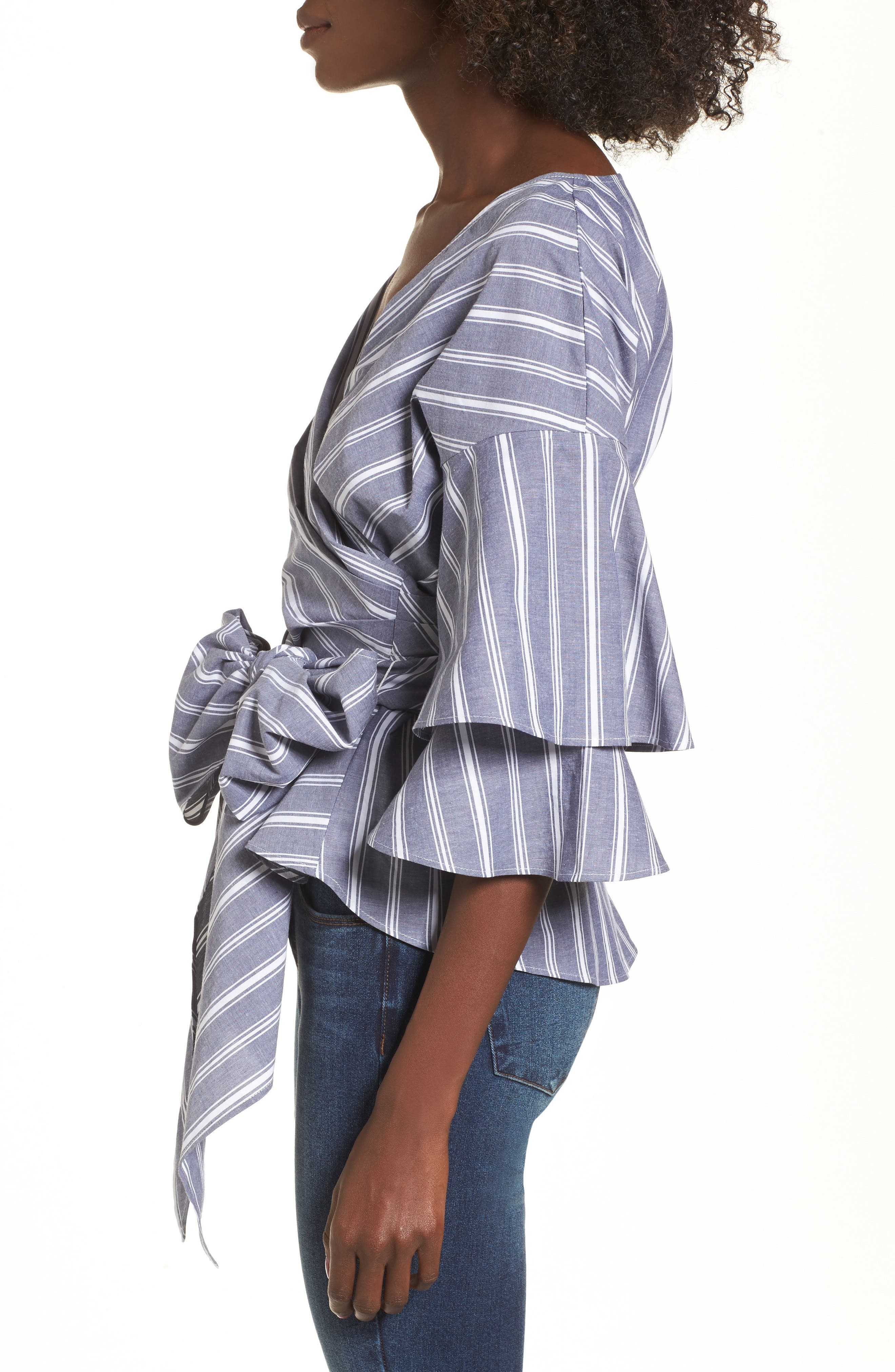 Beckett Tiered Bell Sleeve Top,                             Alternate thumbnail 17, color,
